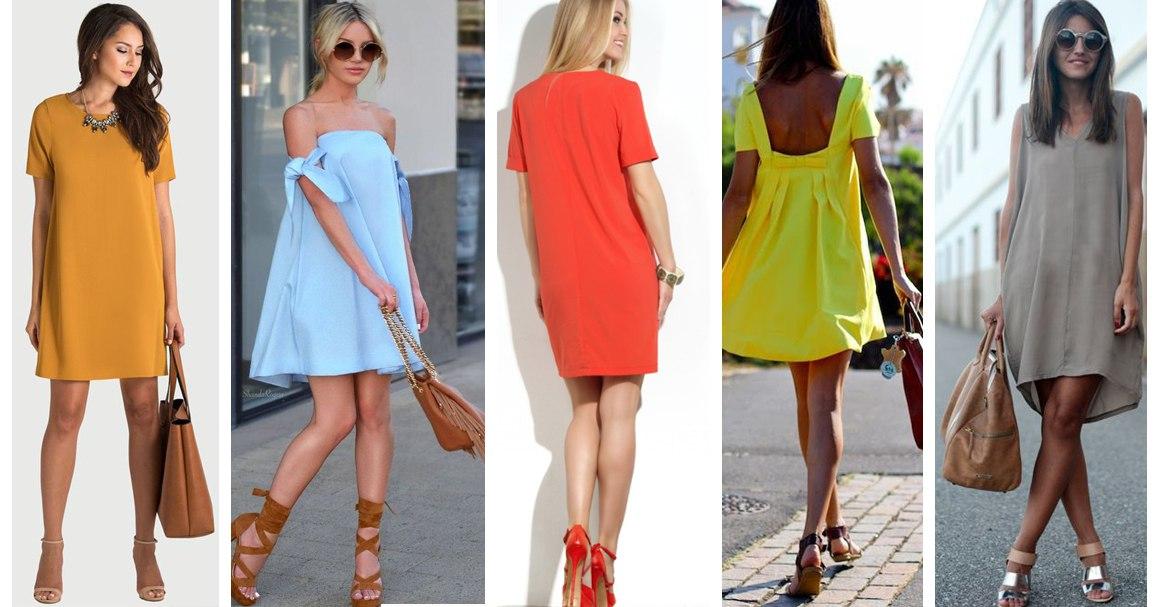 Короткое неприталенное платье