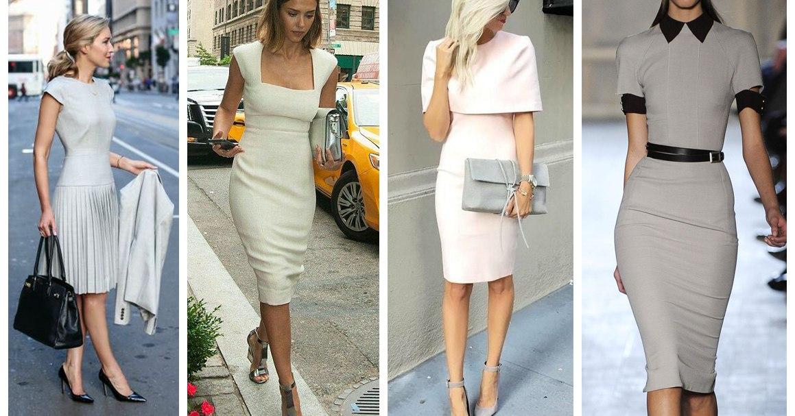 Светлое летнее деловое платье