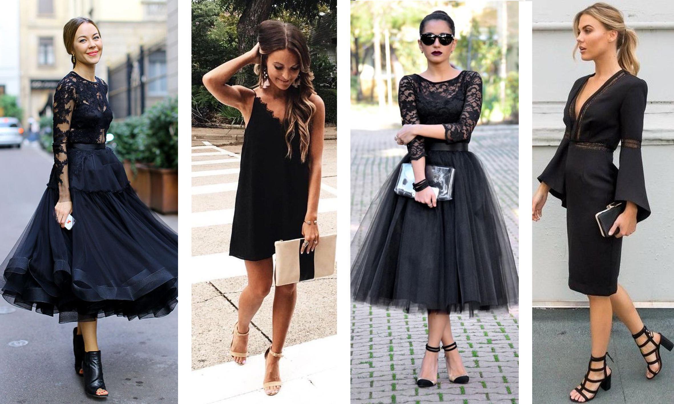 black dress (черное женское платье)