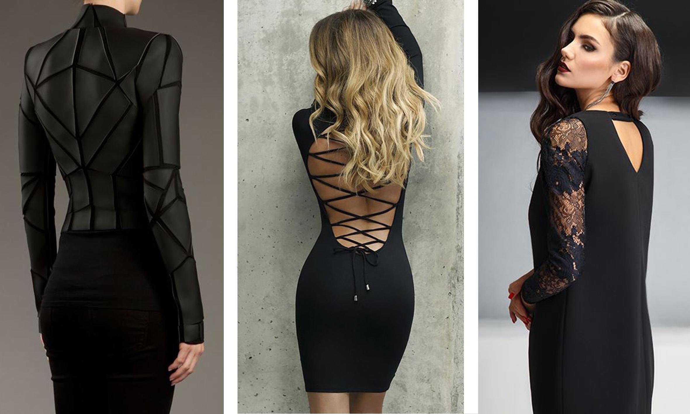 черное платье - оригинальные образы