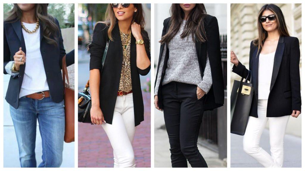 2117abf37c58f57 Чёрный женский пиджак: виды и модные сочетания - Just clothes
