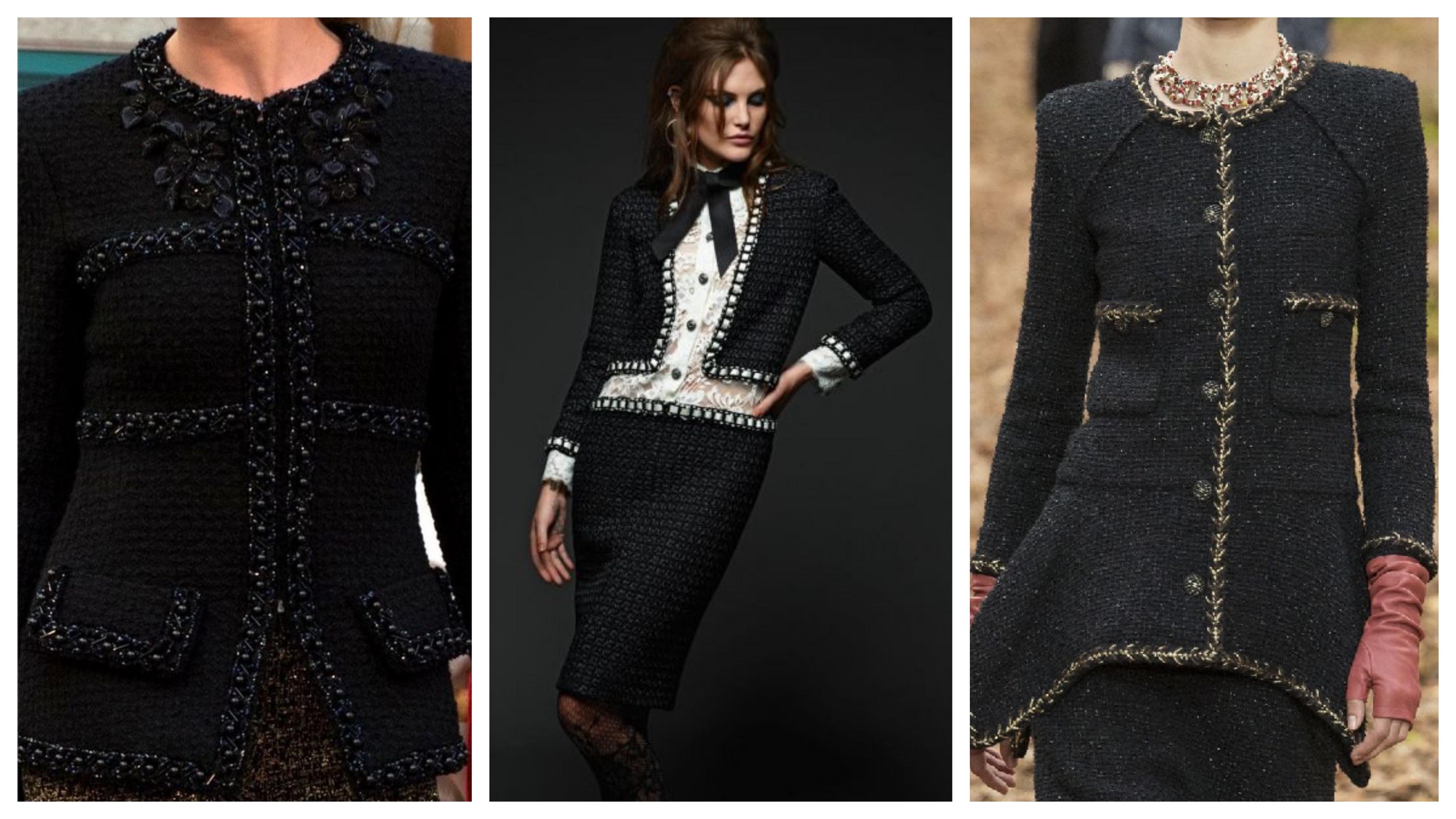 Черный пиджак Шанель