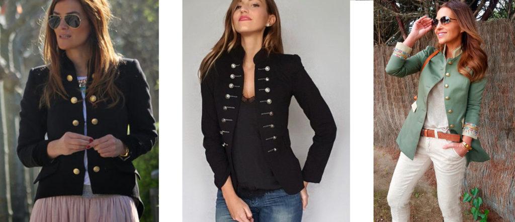 Летний женский пиджак милитари