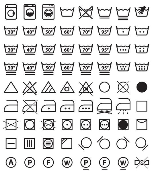 маркировки, обозначающая символы на бирке