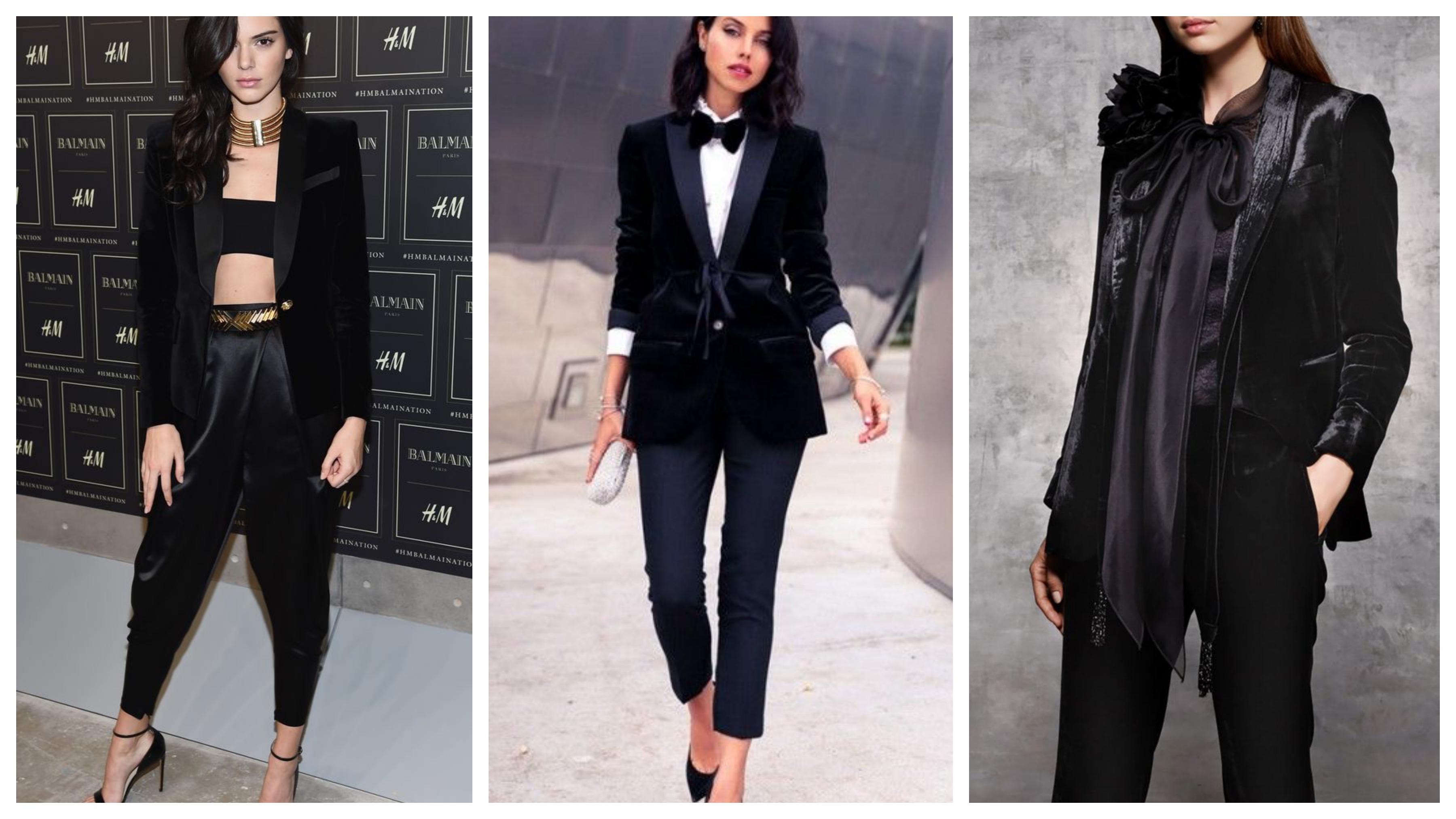 Черный вечерний женский пиджак