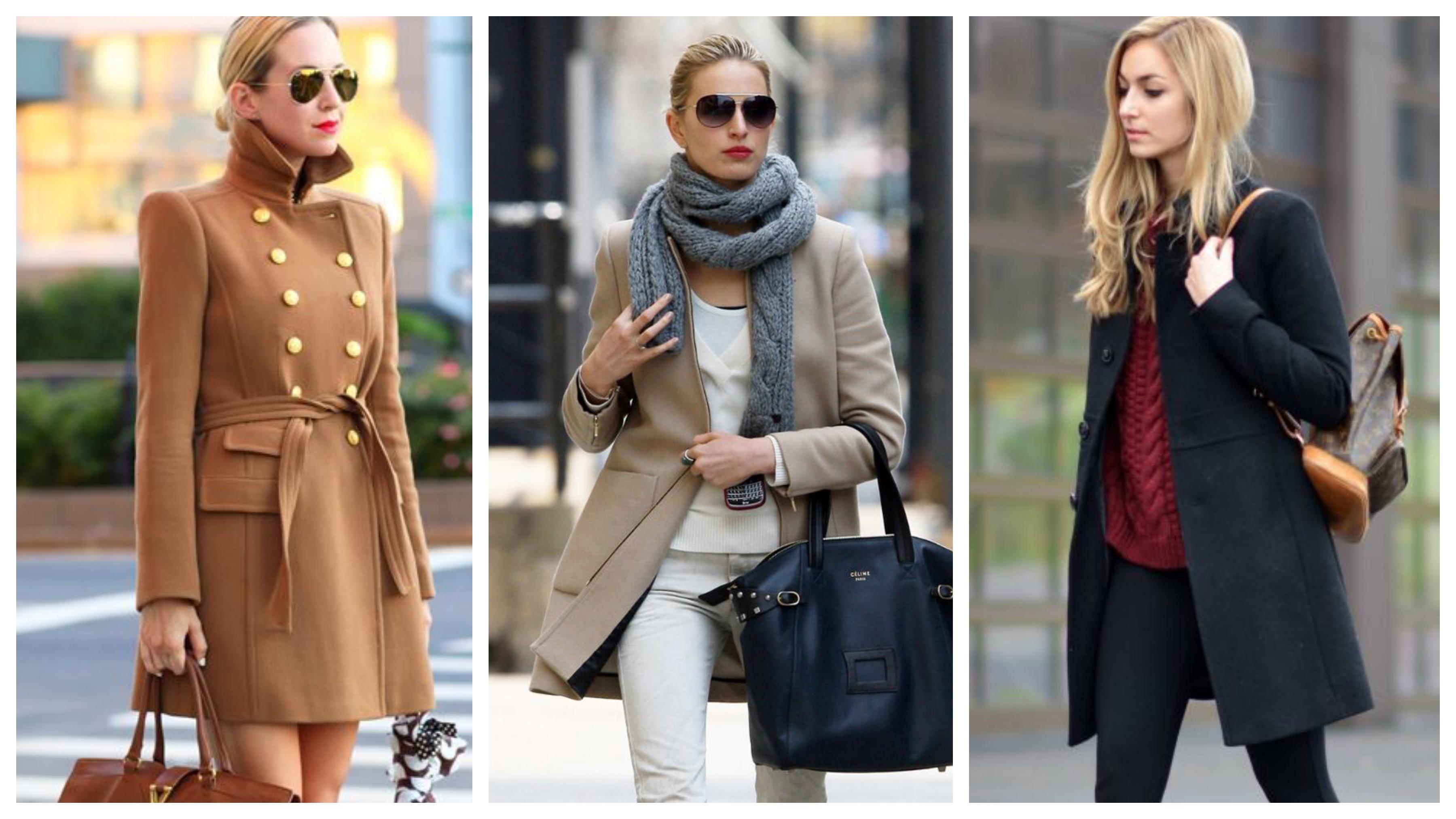 Драповое женское пальто укороченное