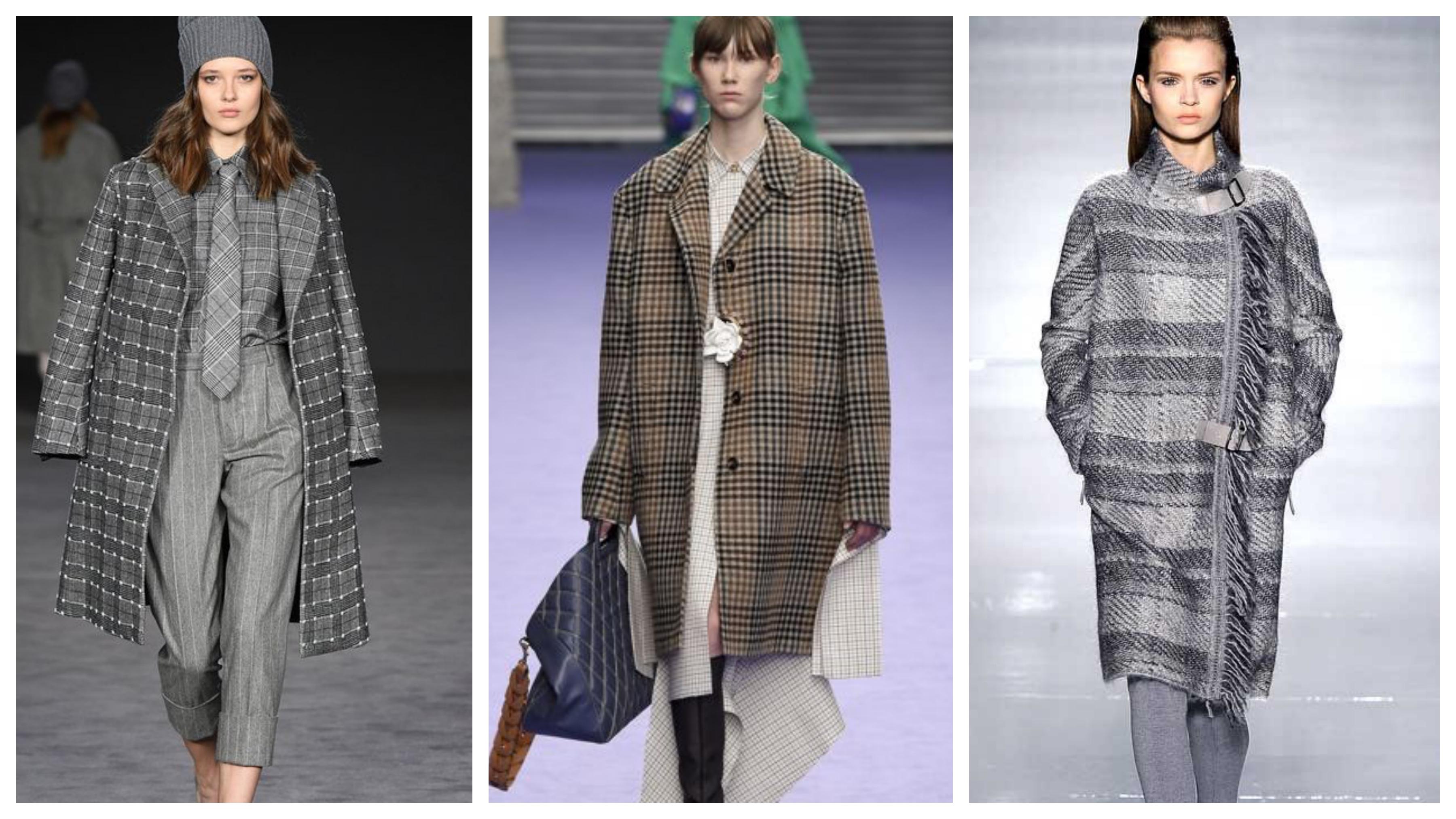Драповое женское пальто глинчек