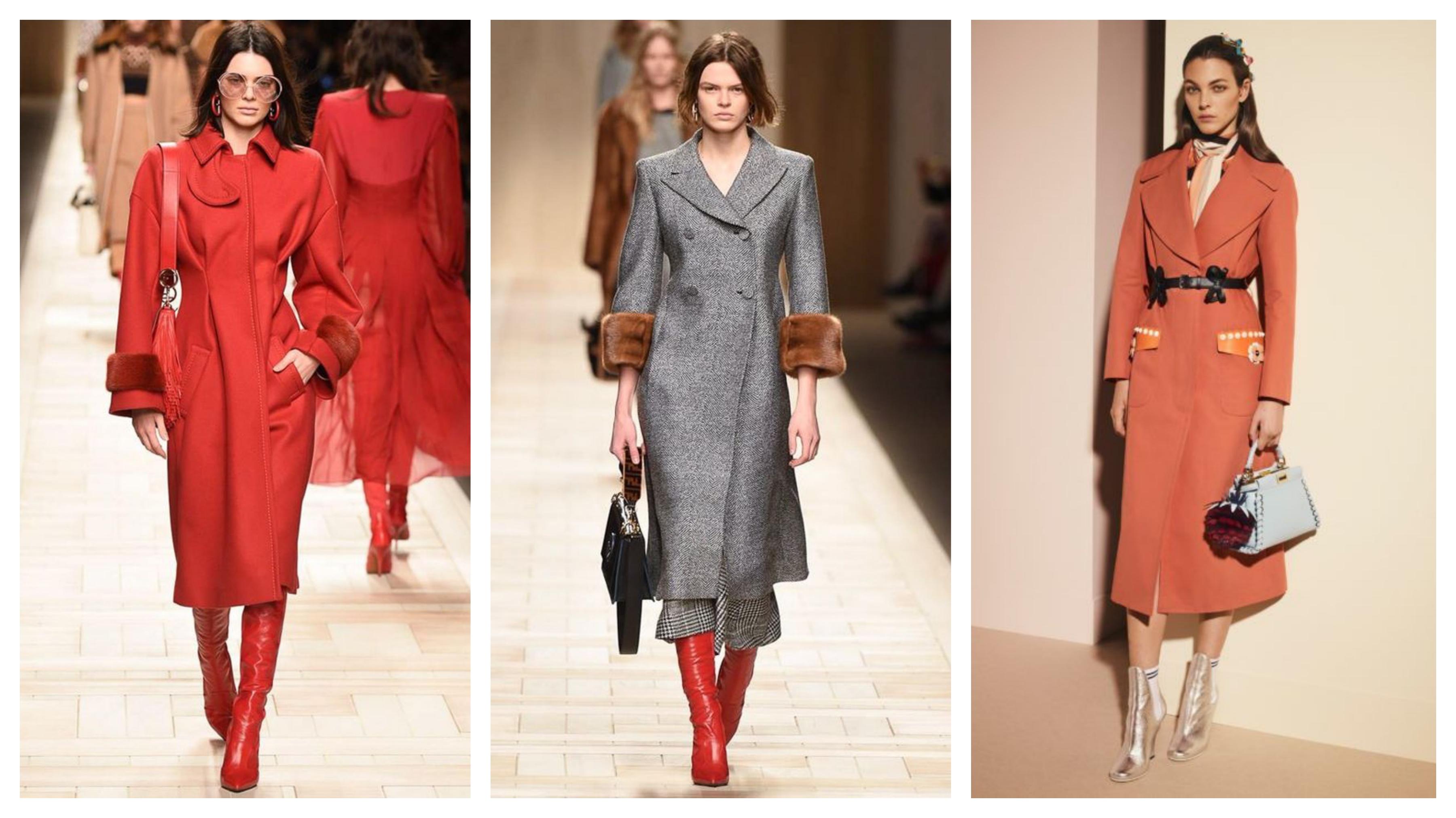 Драповое женское пальто прилегающее