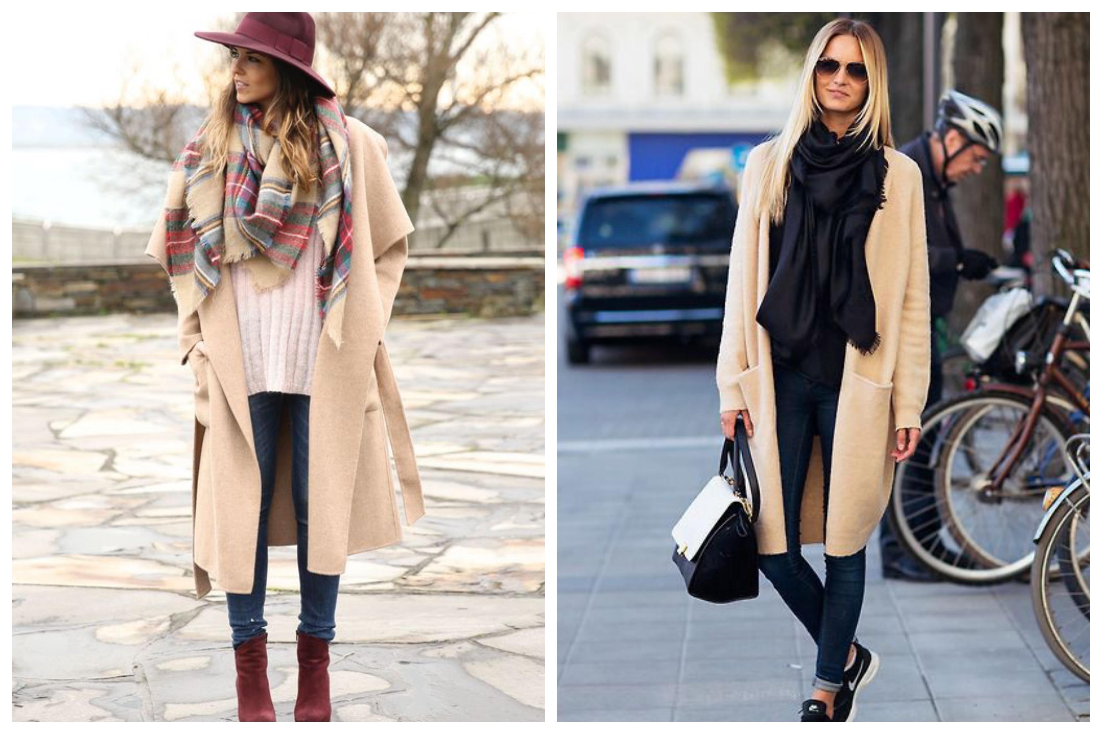 Шарф для бежевого пальто