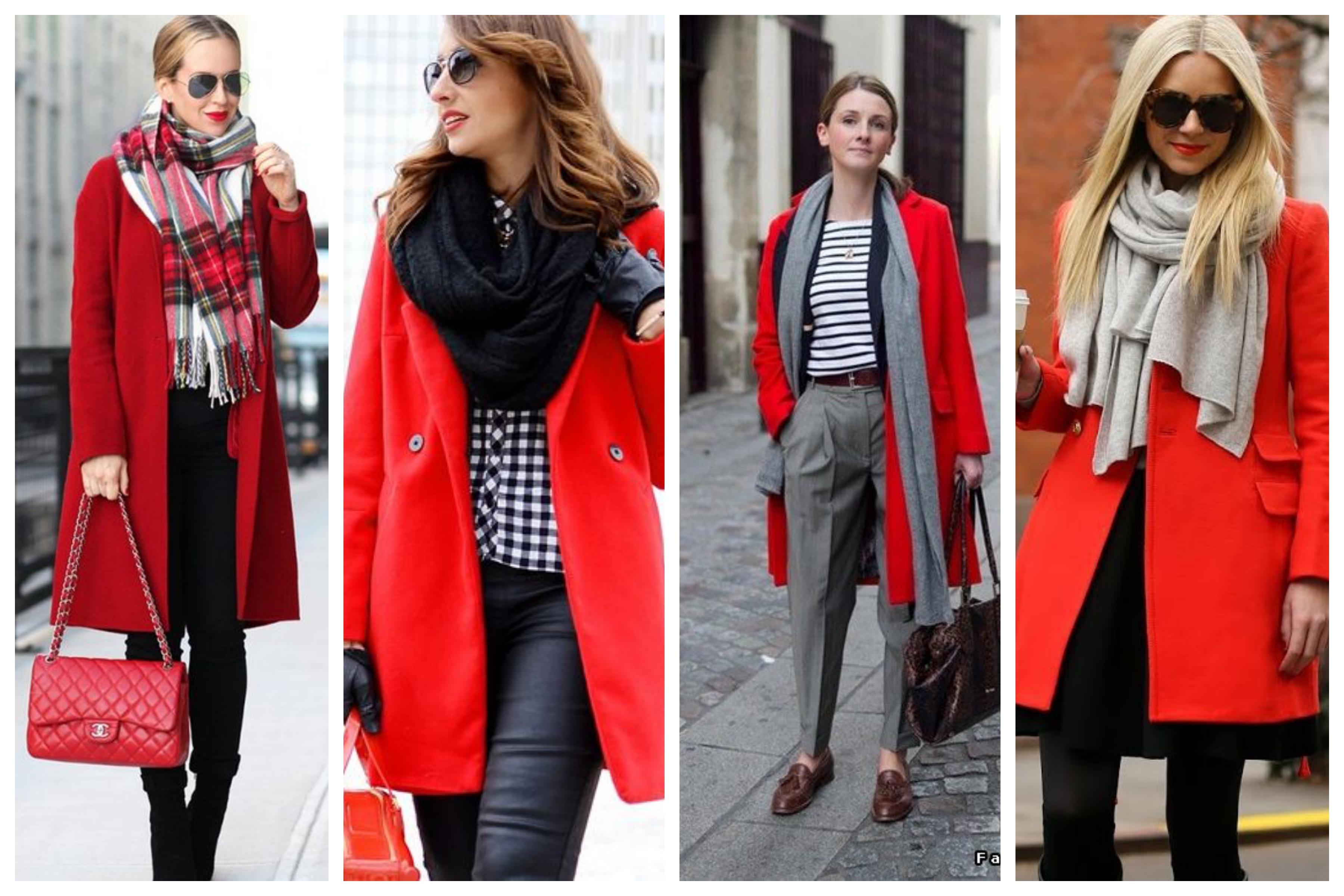 Шарф для красного пальто