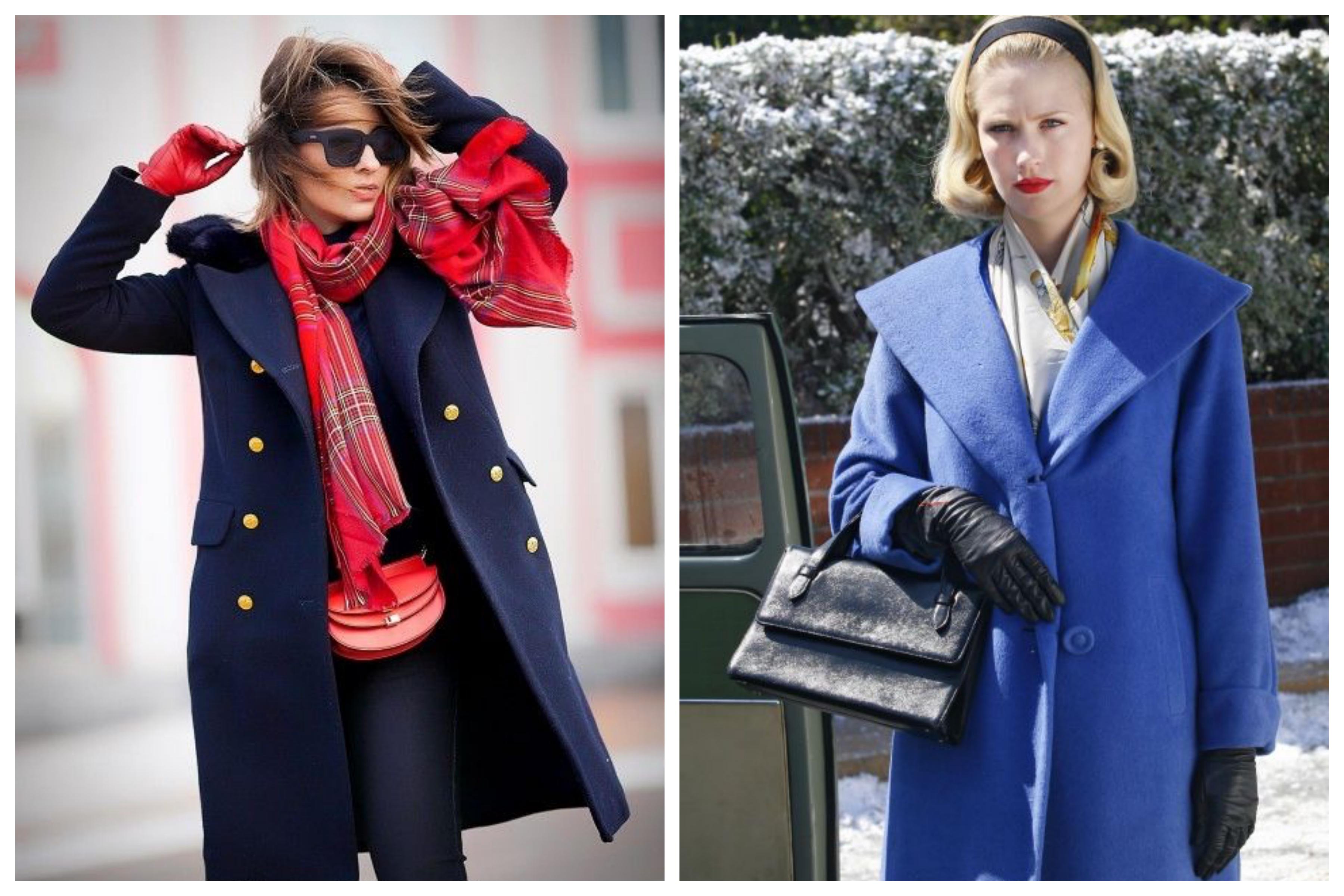 Шарф для синего пальто