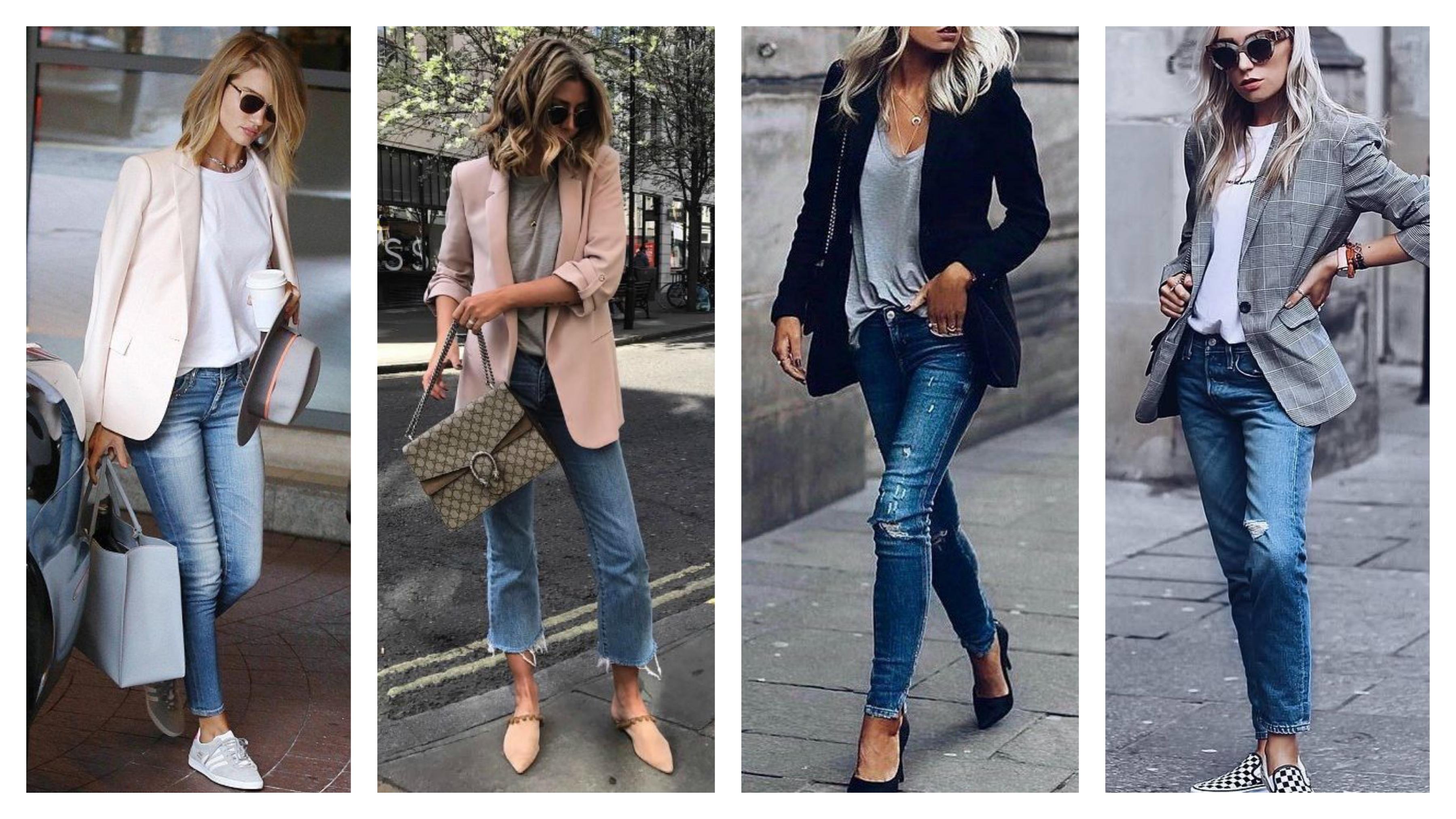 Модный пиджак и джинсы