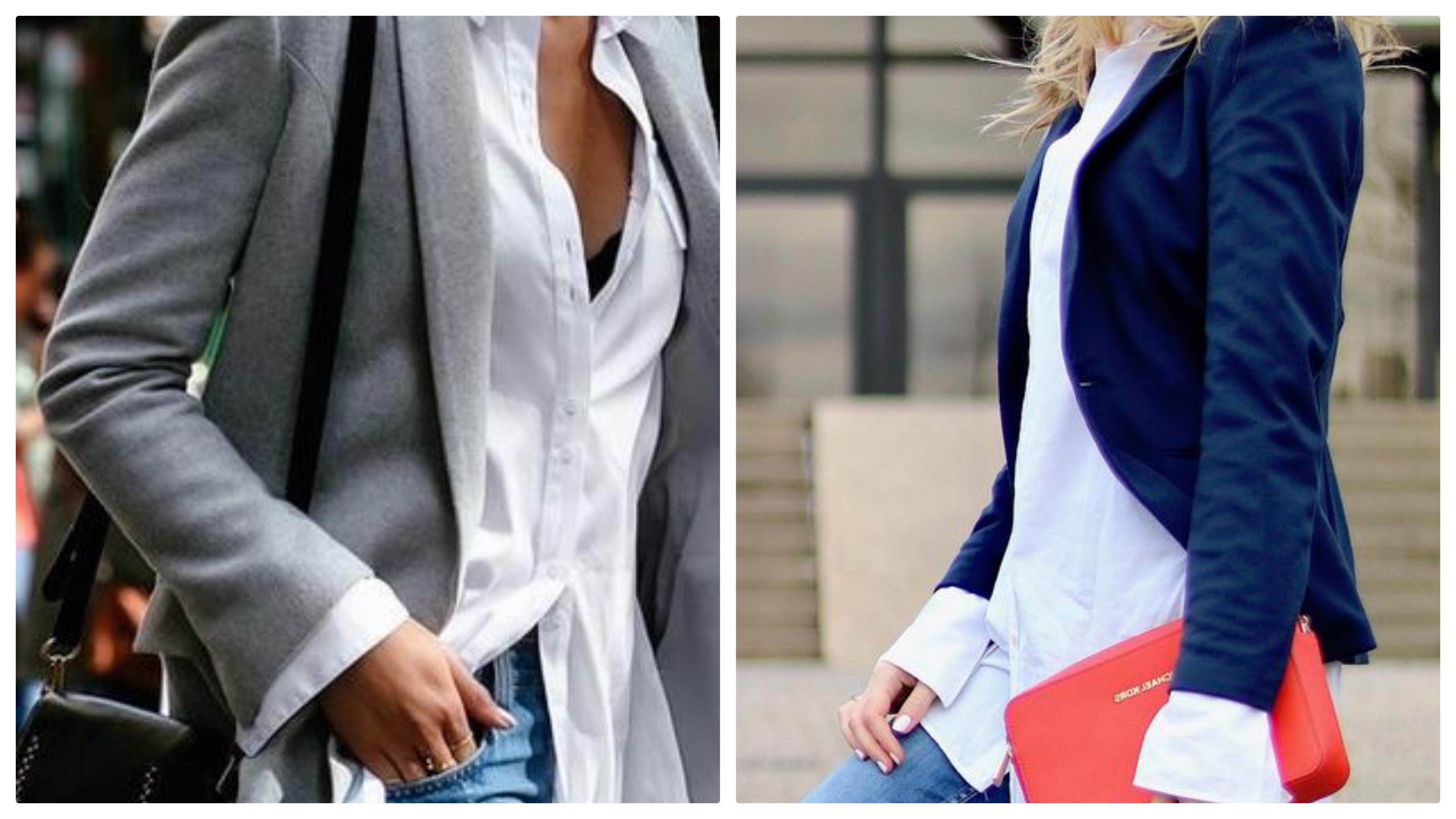 Джинсы, рубашка и пиджак