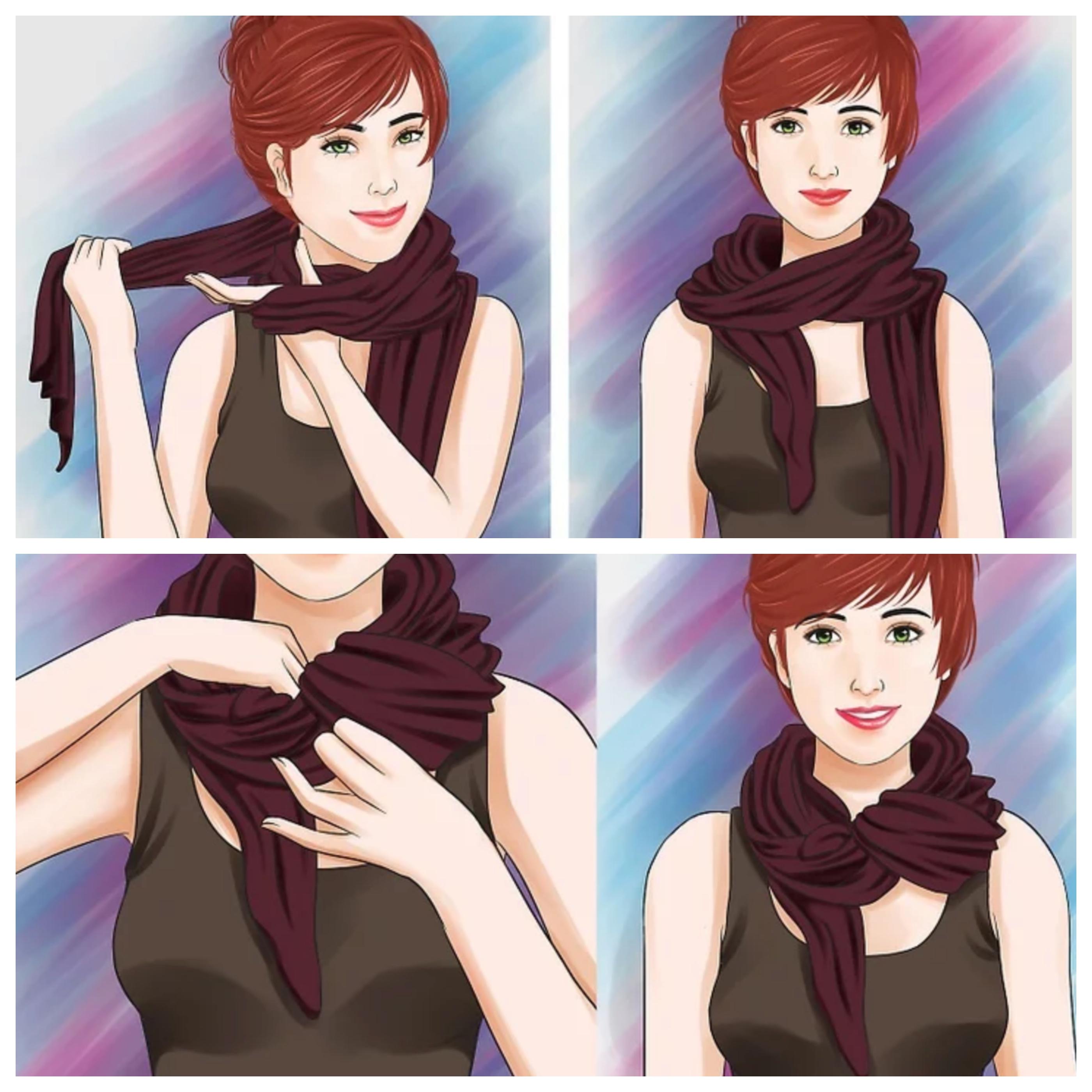 Как завязать шарф узлом