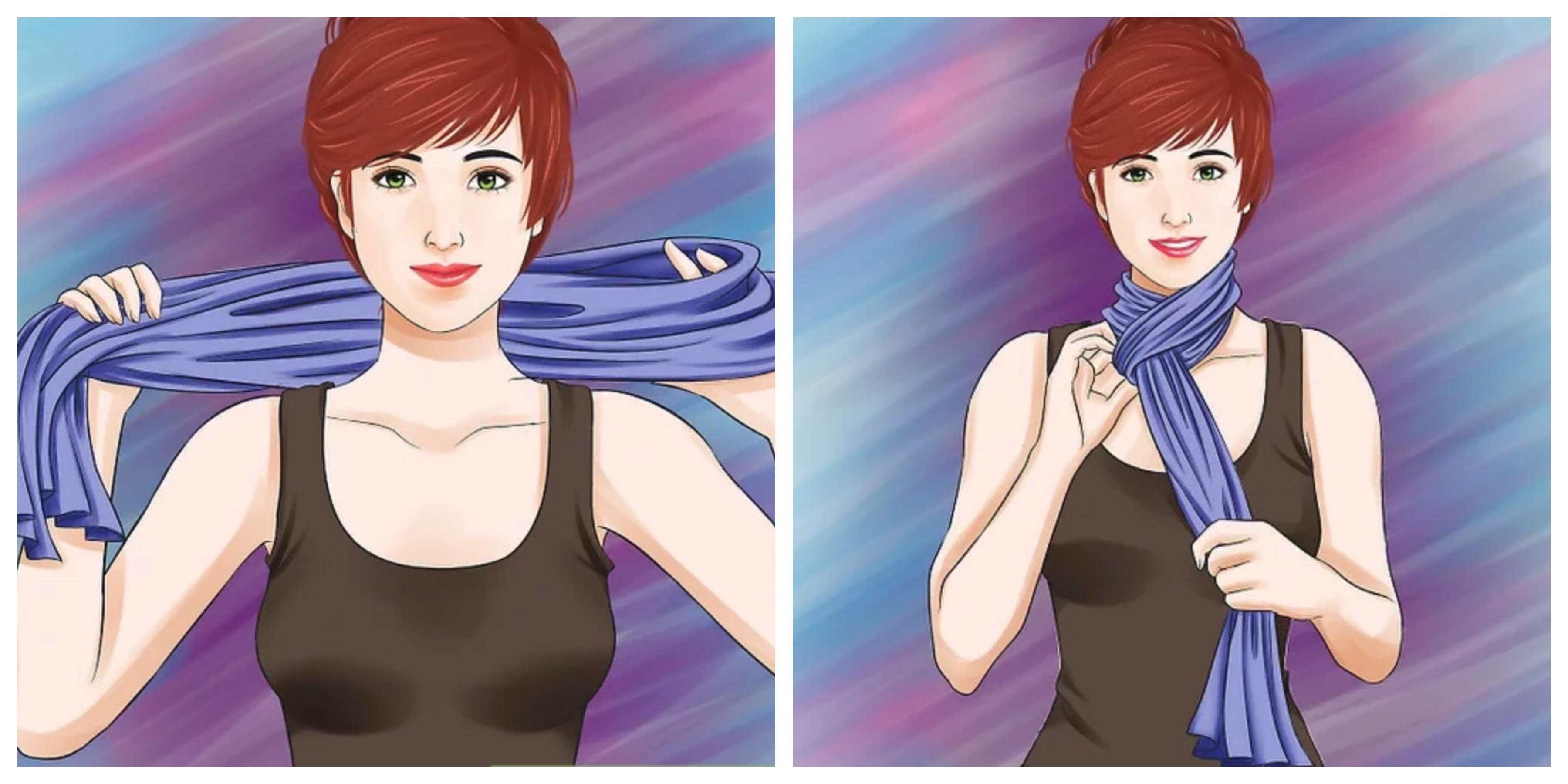 Как завязать шарф петлей