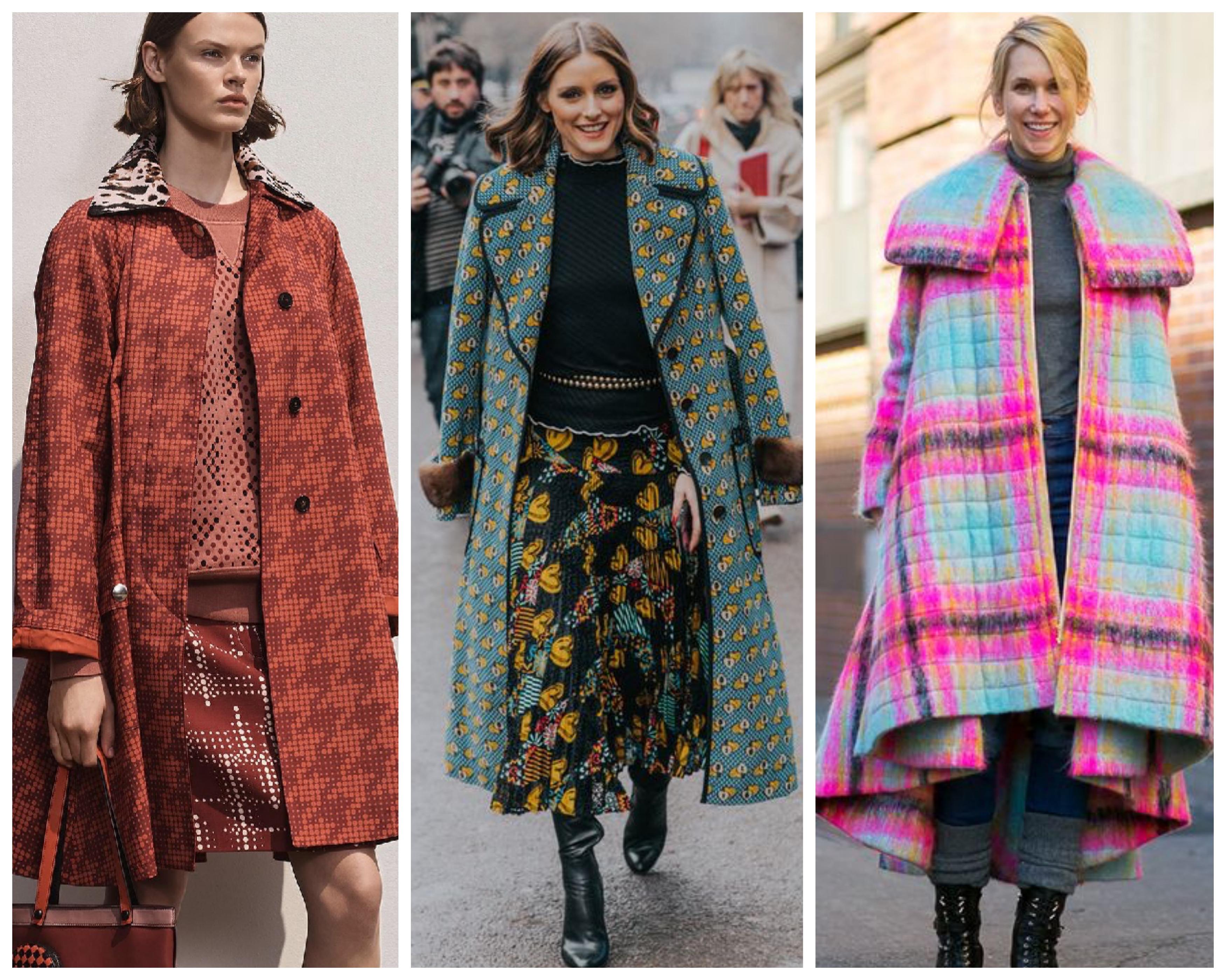 Пальто принт 2019