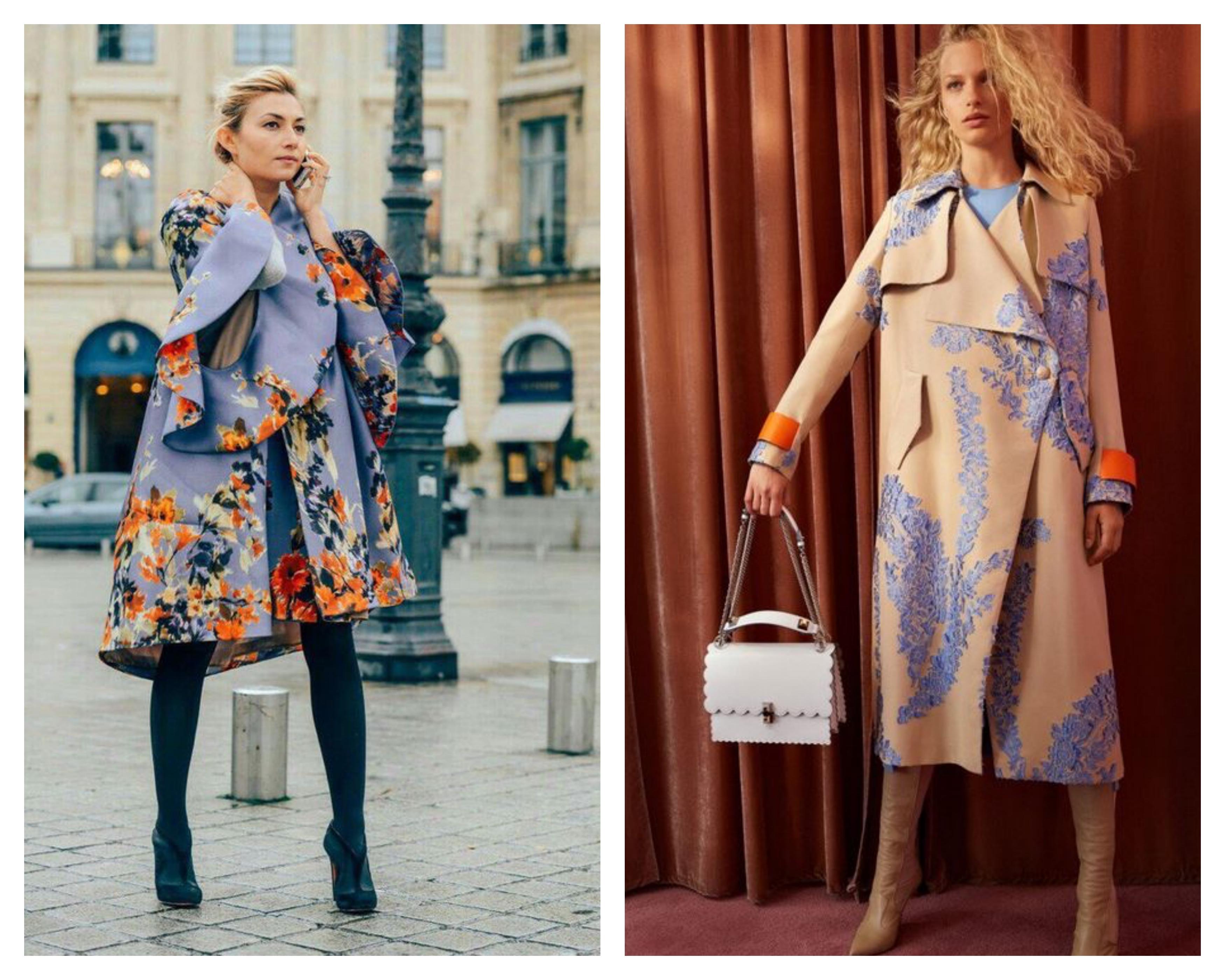 Пальто с цветами 2019