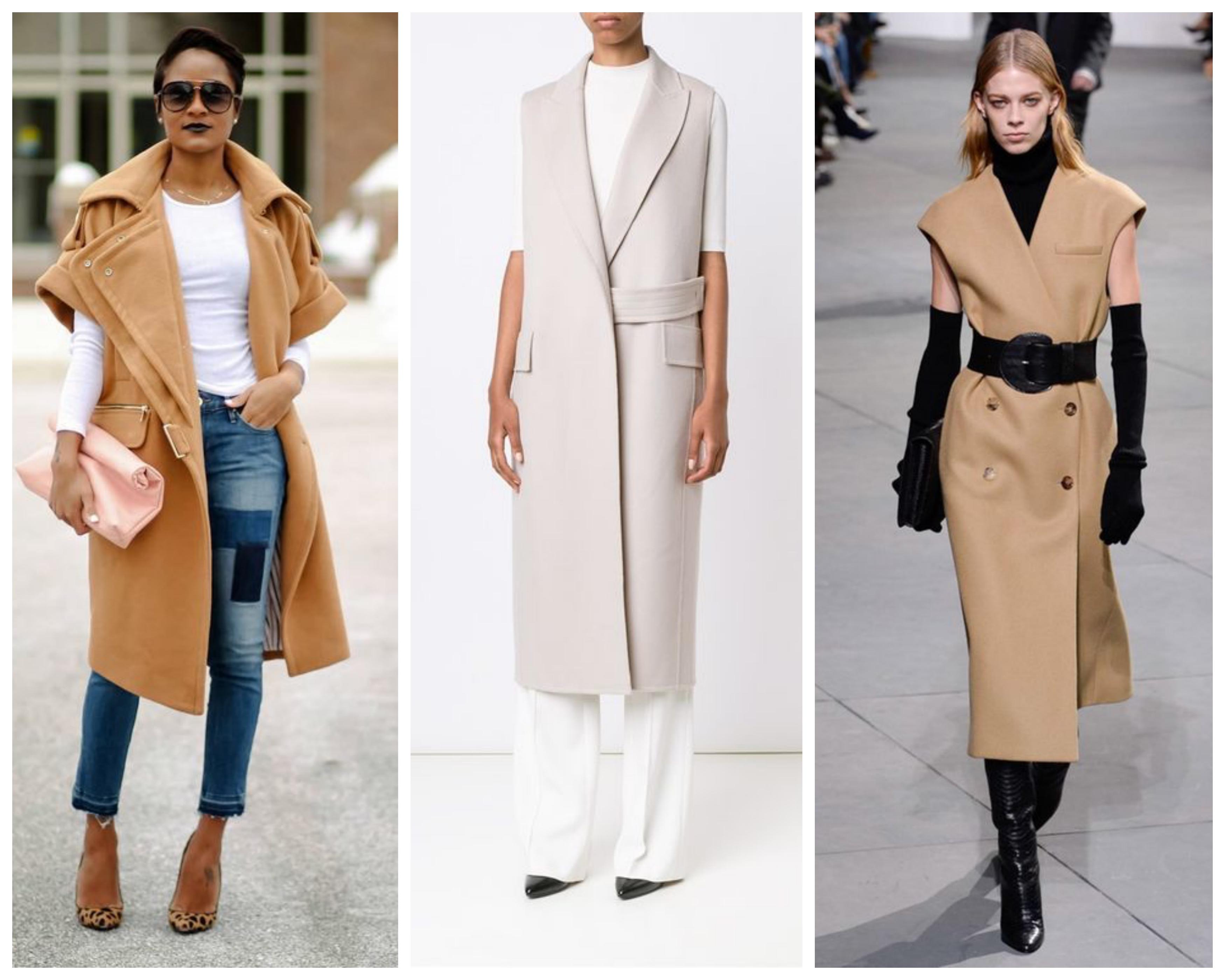 Пальто без рукавов 2019