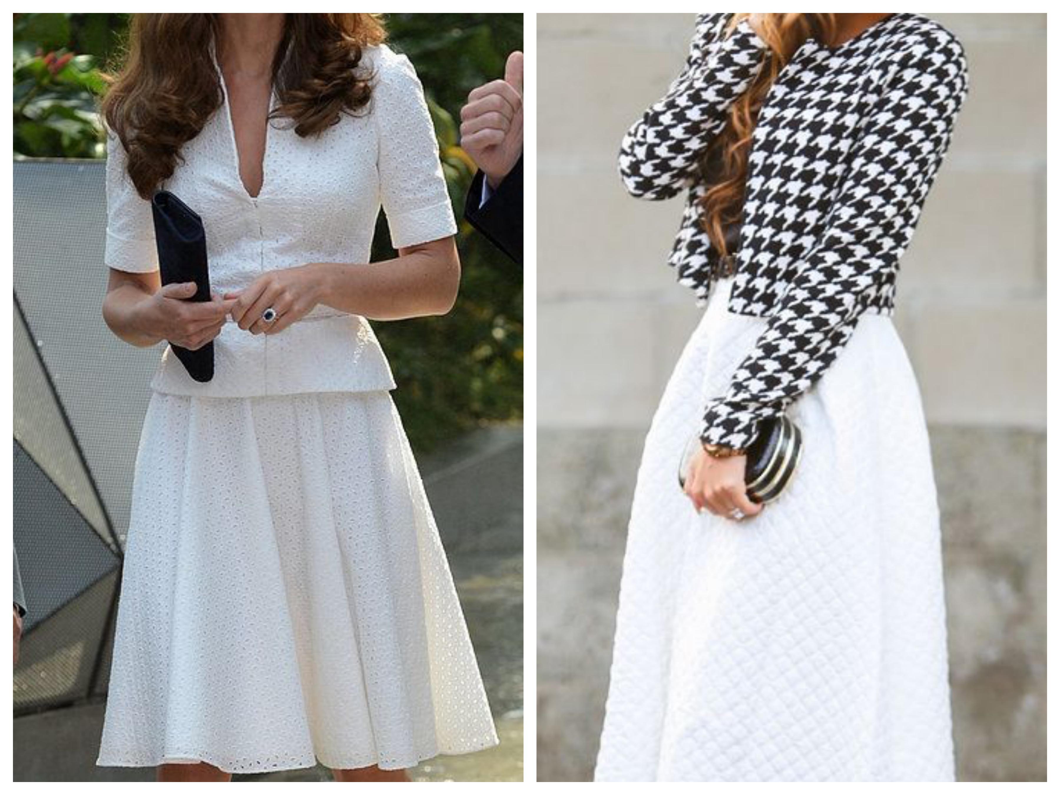 Пиджак и белая юбка