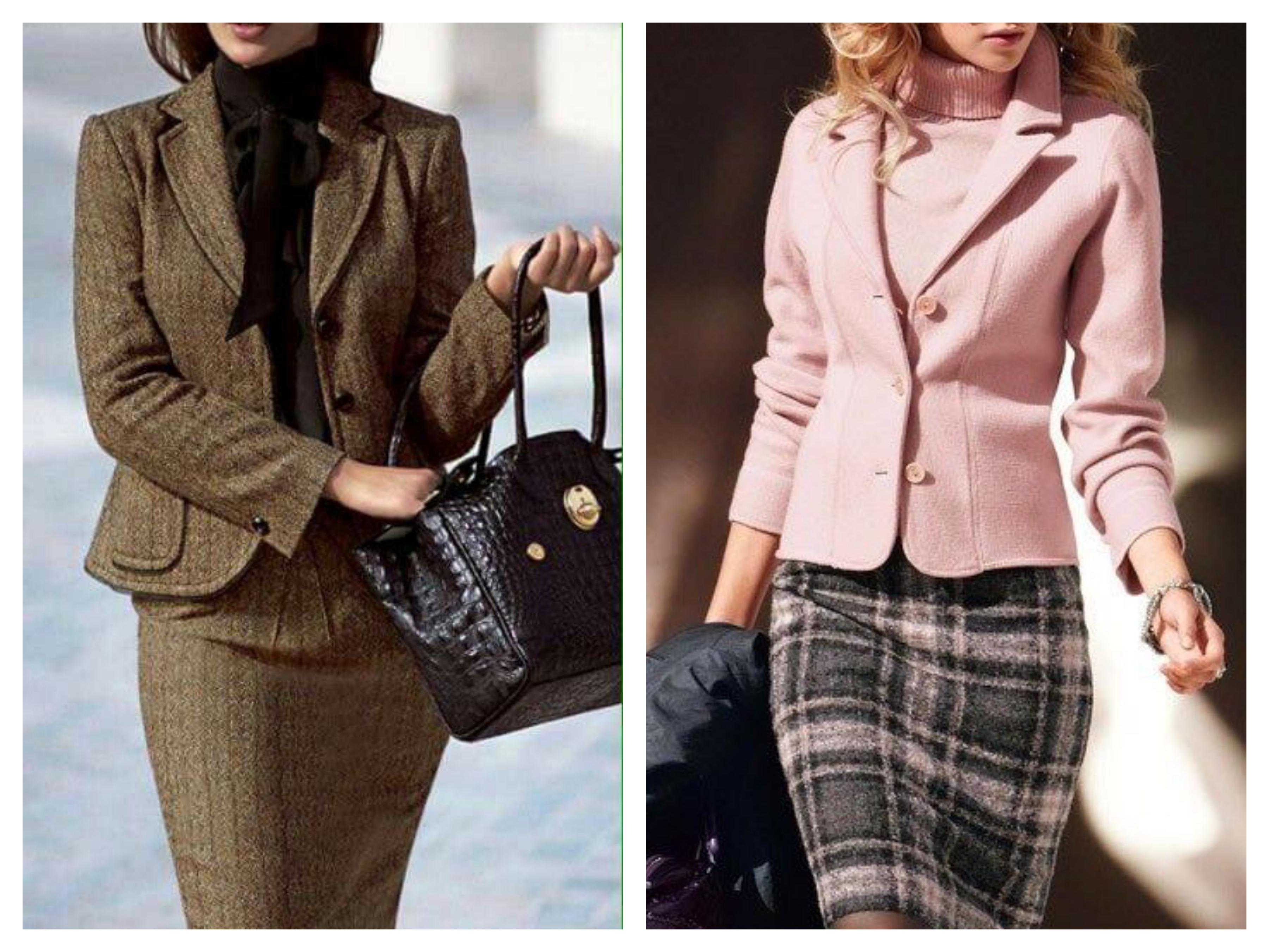 Деловой офисный стиль - Пиджак и юбка