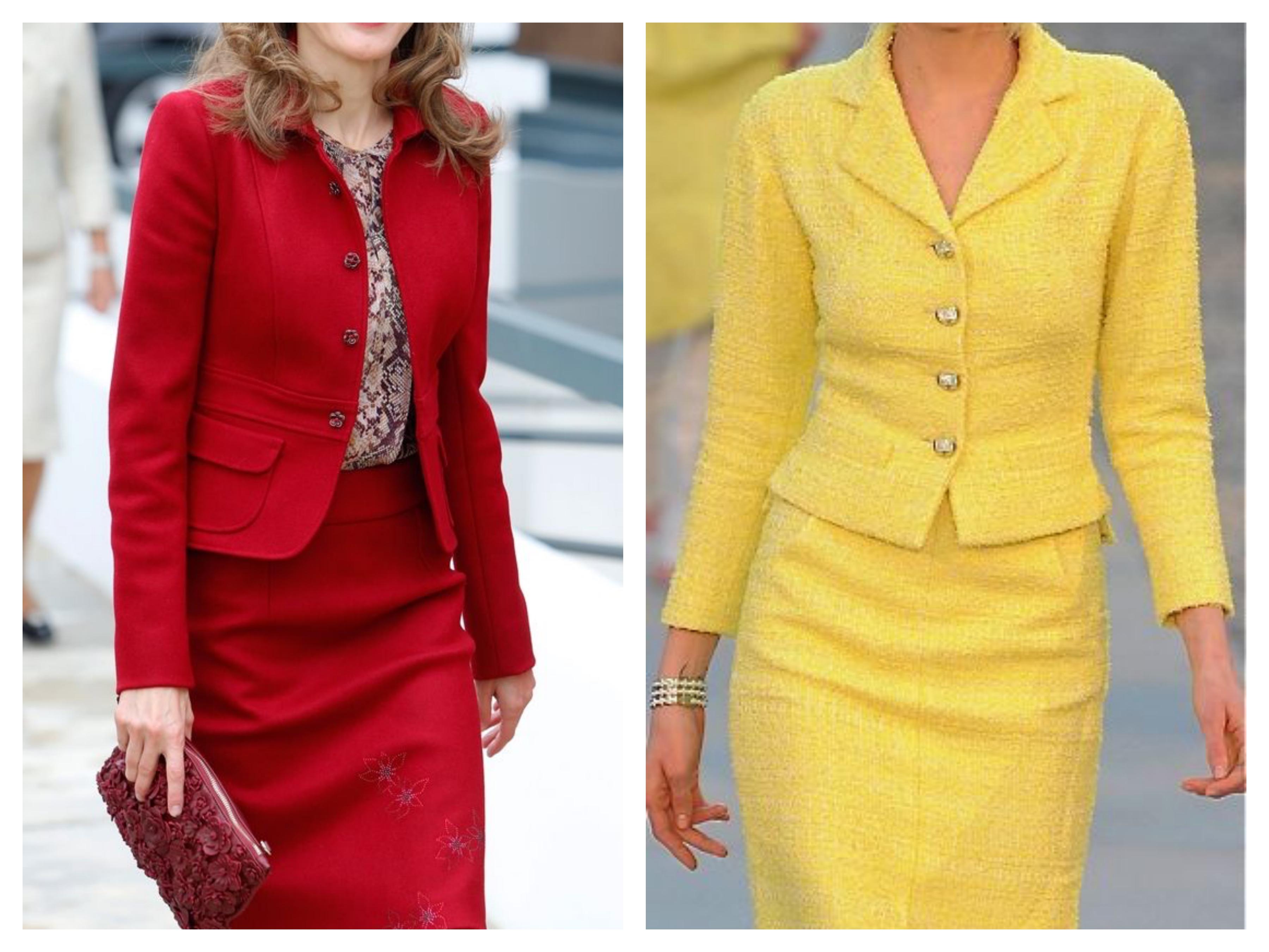 Желтый костюм - Пиджак и юбка