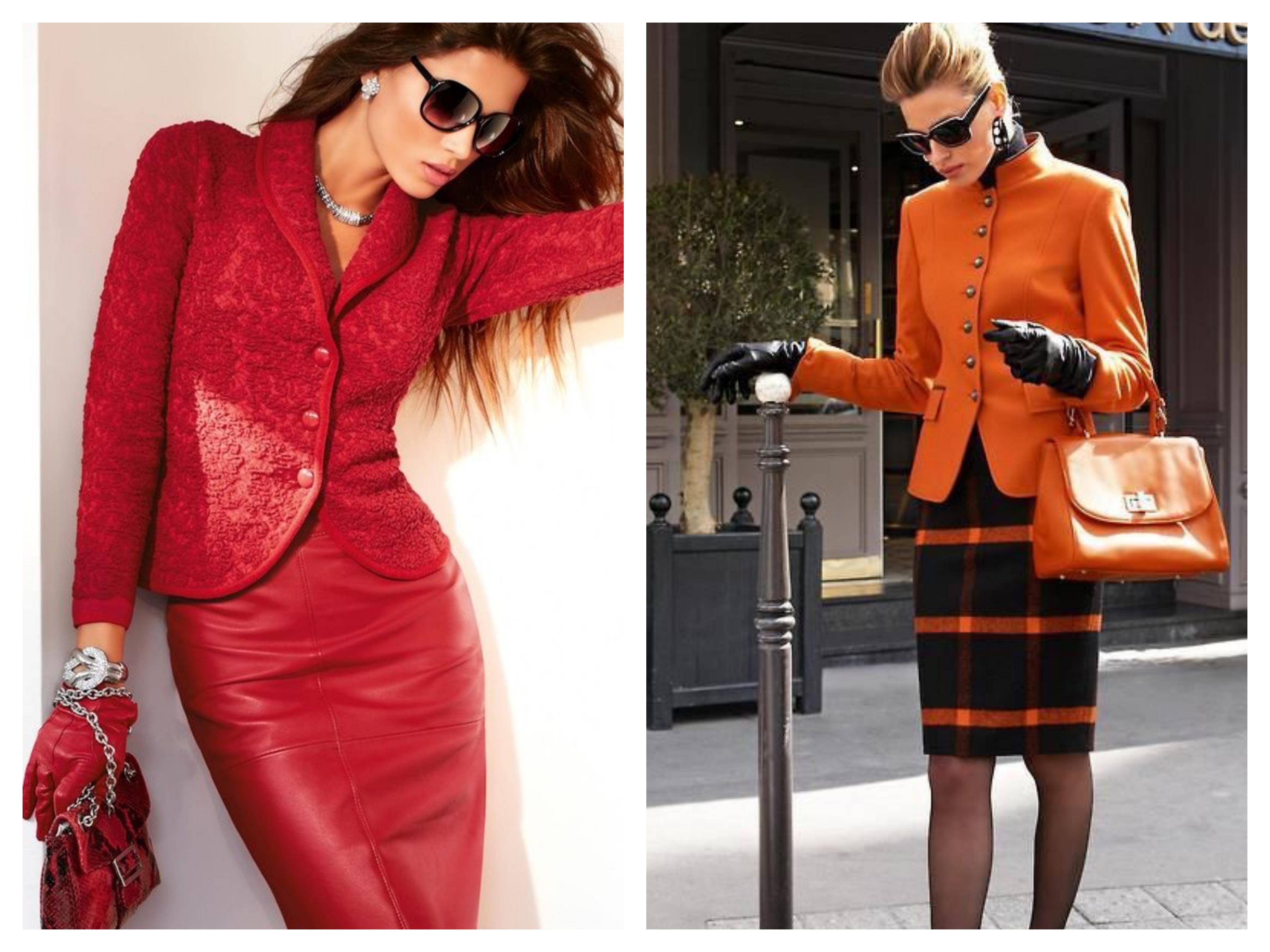 Красный костюм - Пиджак и юбка