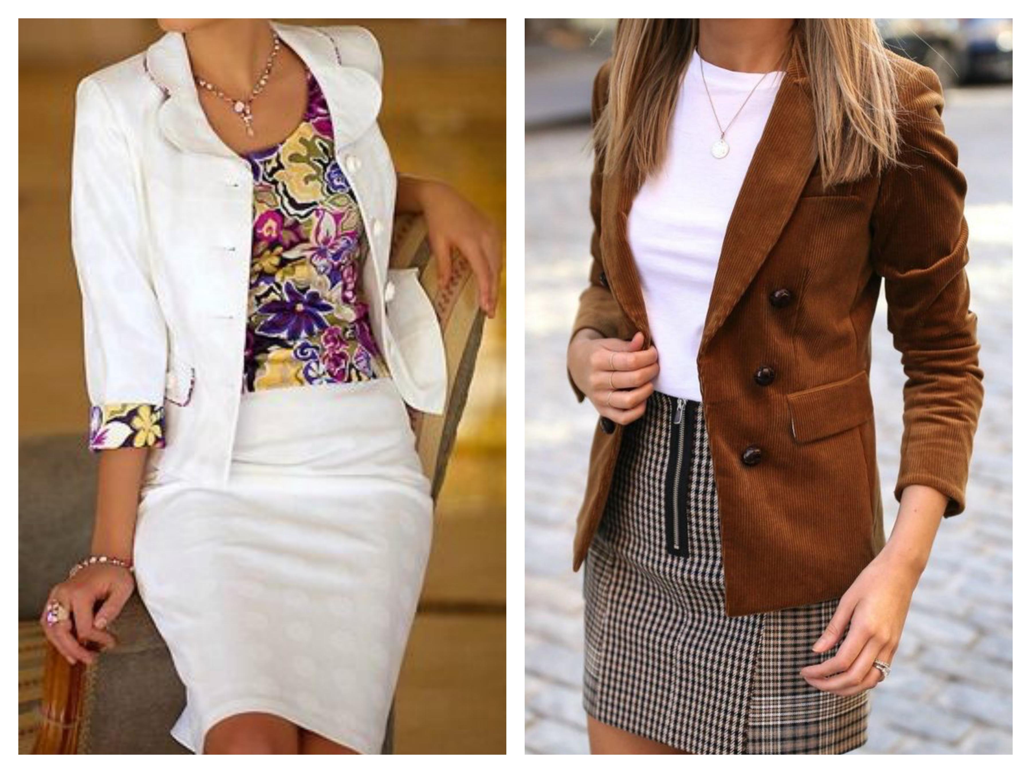 Летний костюм - пиджак и юбка