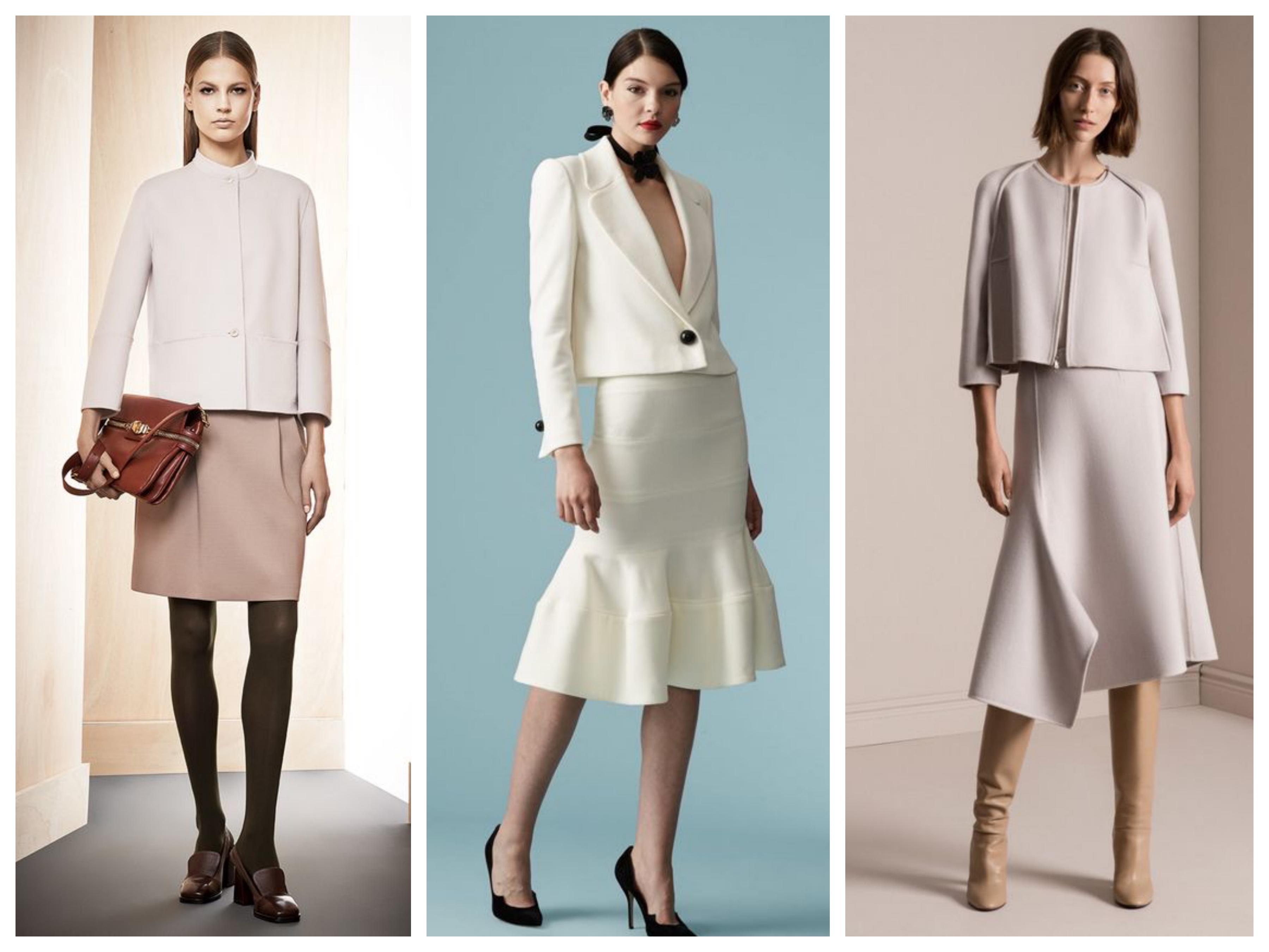 Пиджак с разными юбками