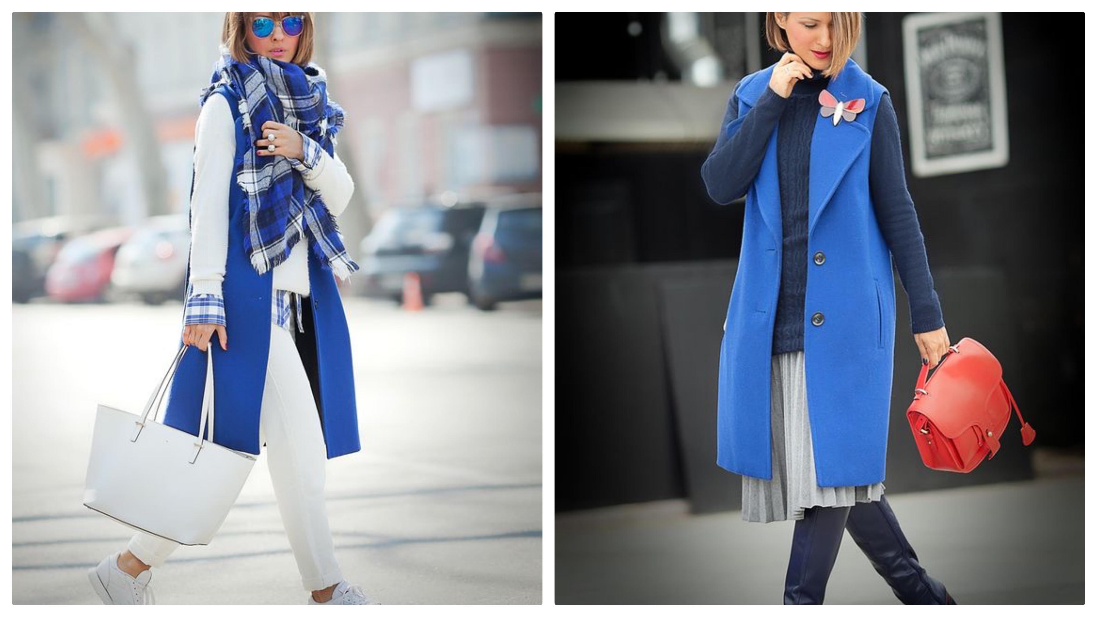 пиджак без рукавов синий