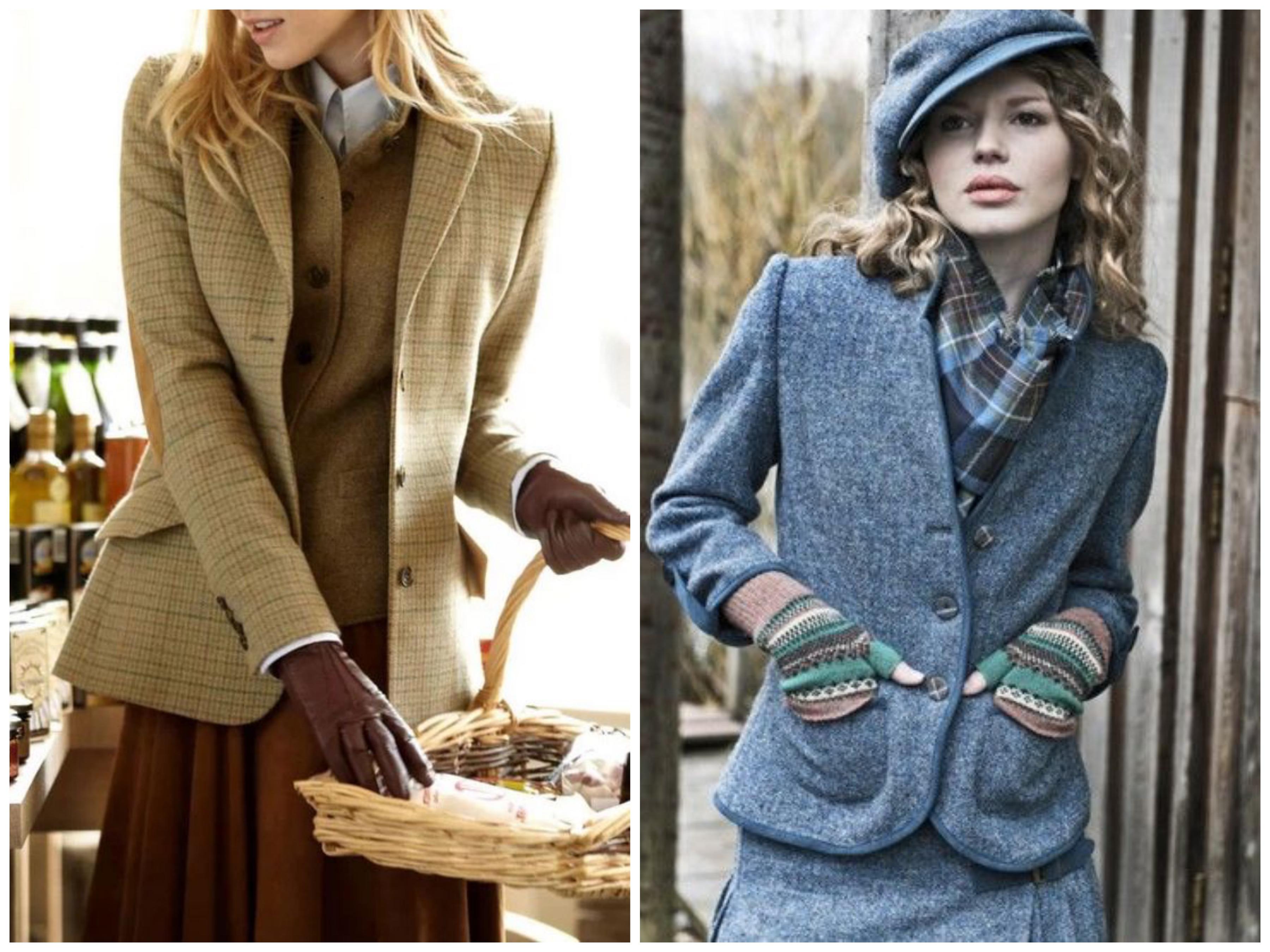 Твидовый костюм - пиджак и юбка