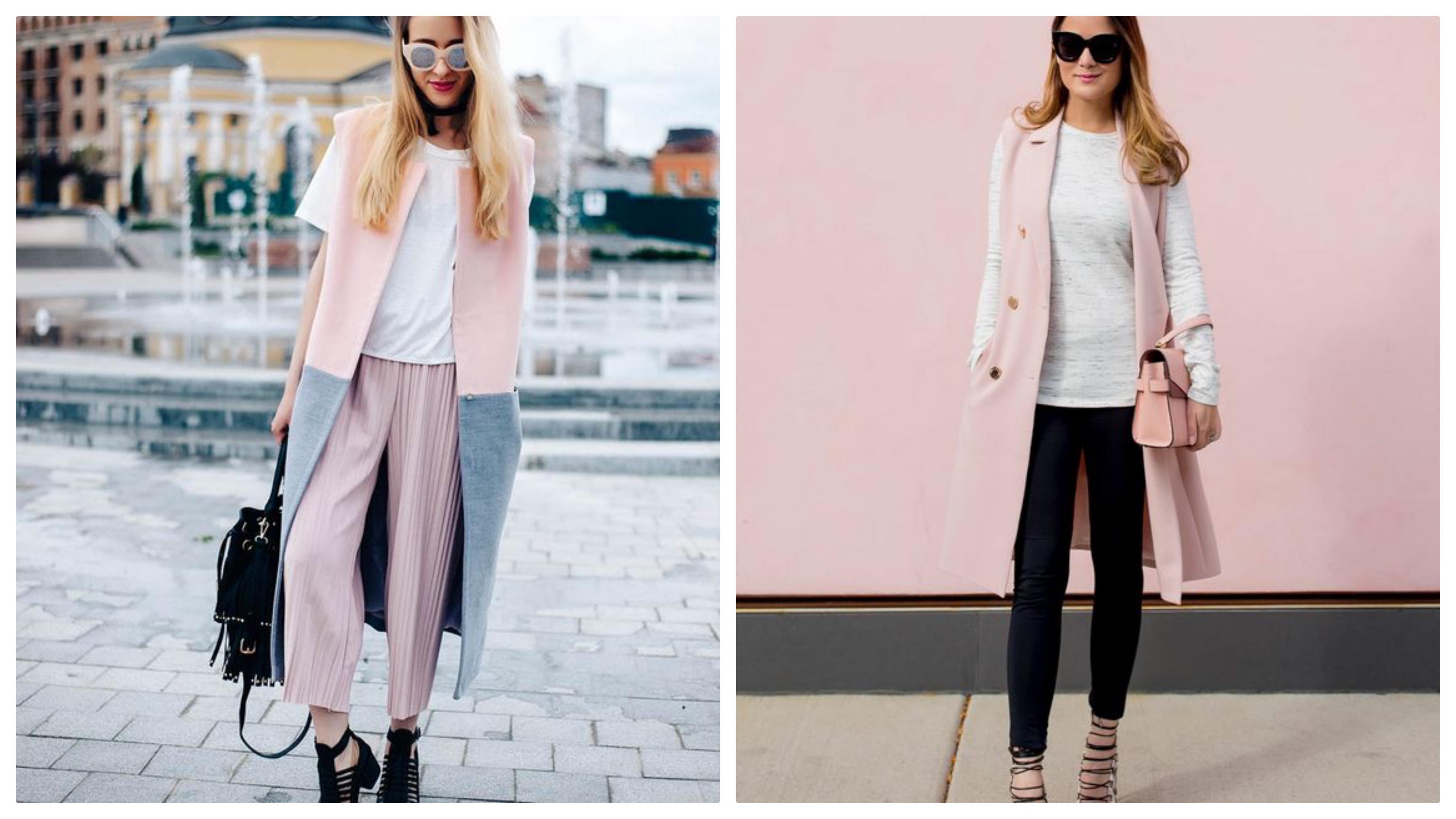 Пиджак без рукавов розовый