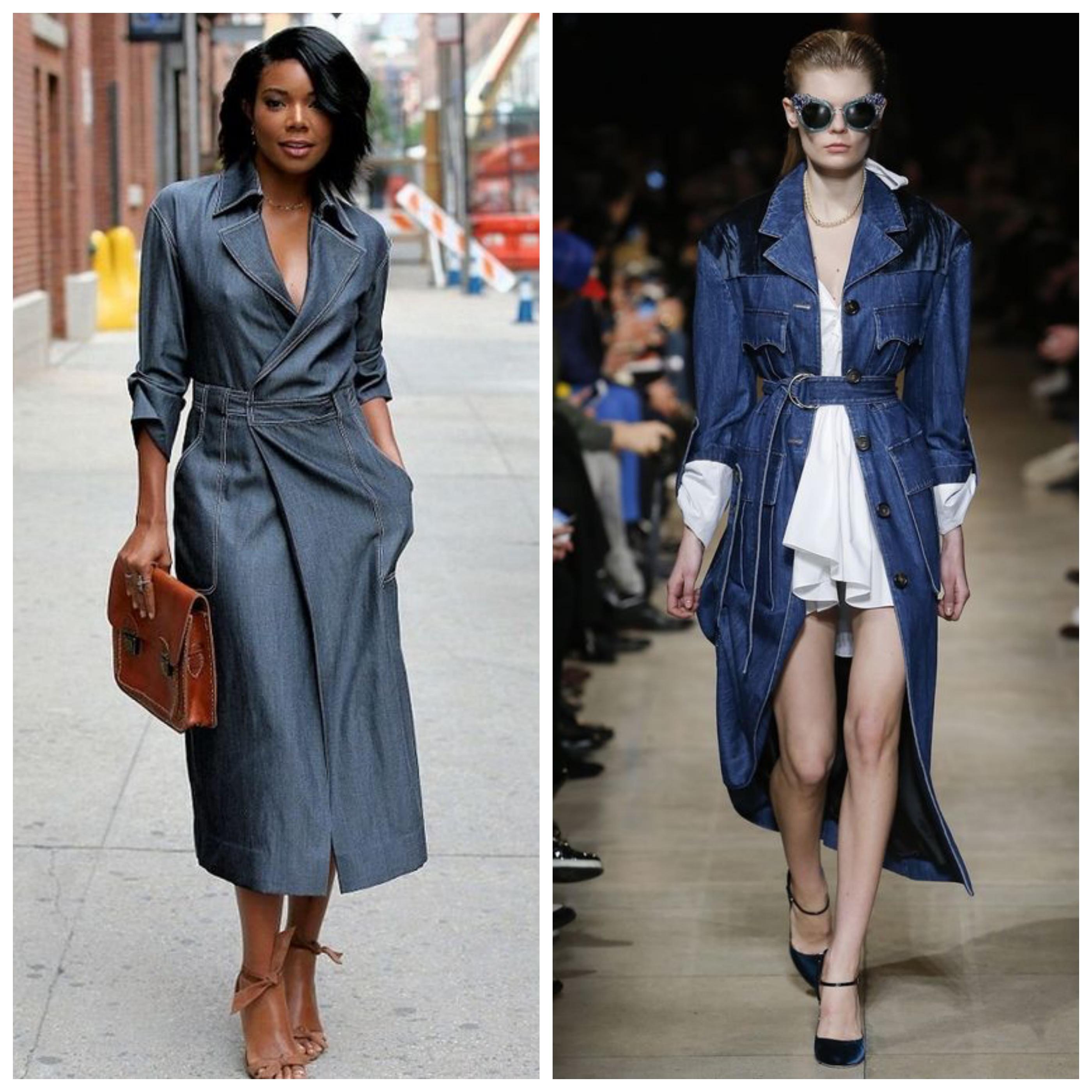 Джинсовое летнее женское пальто