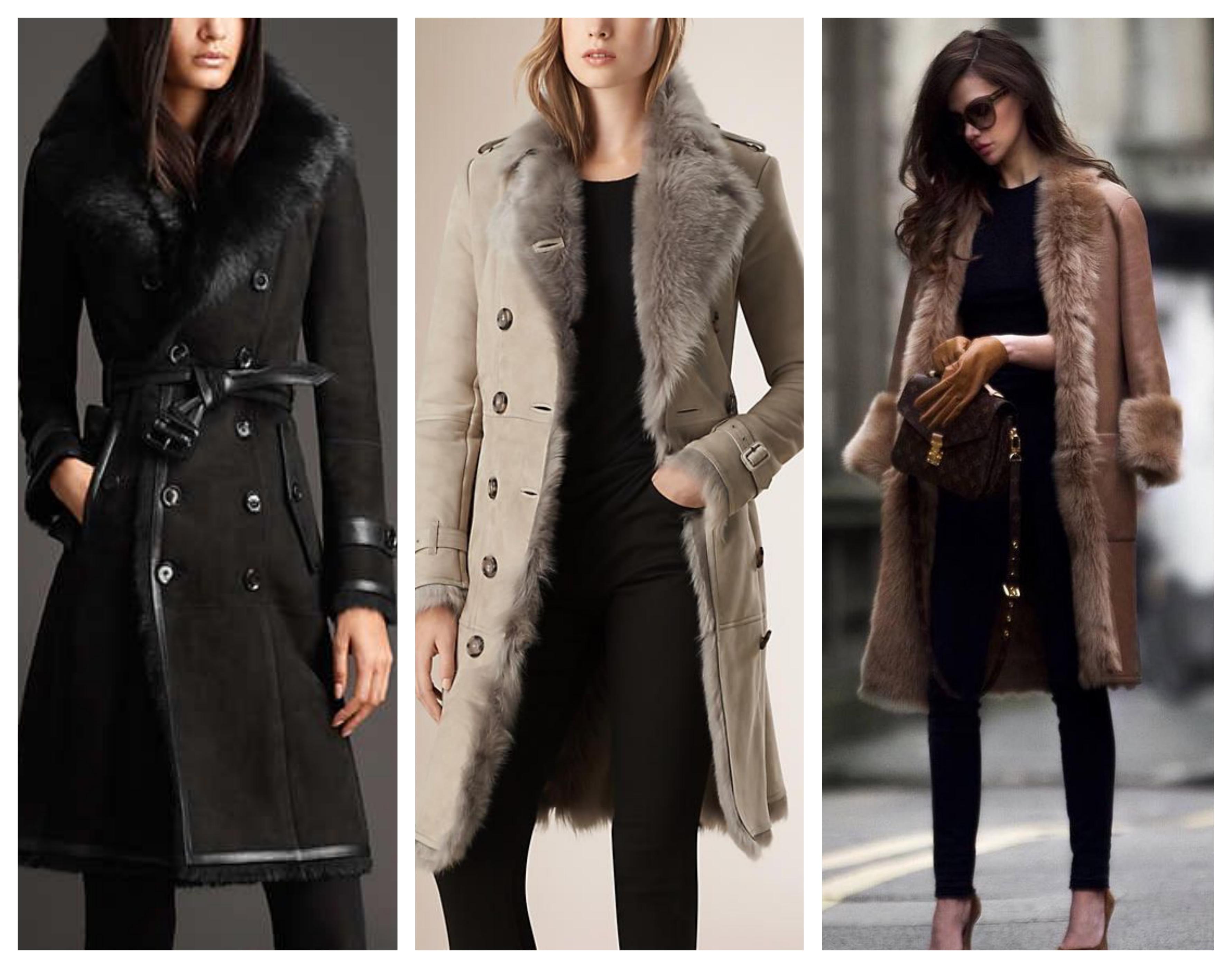 Кожаное пальто на меховой подстежке