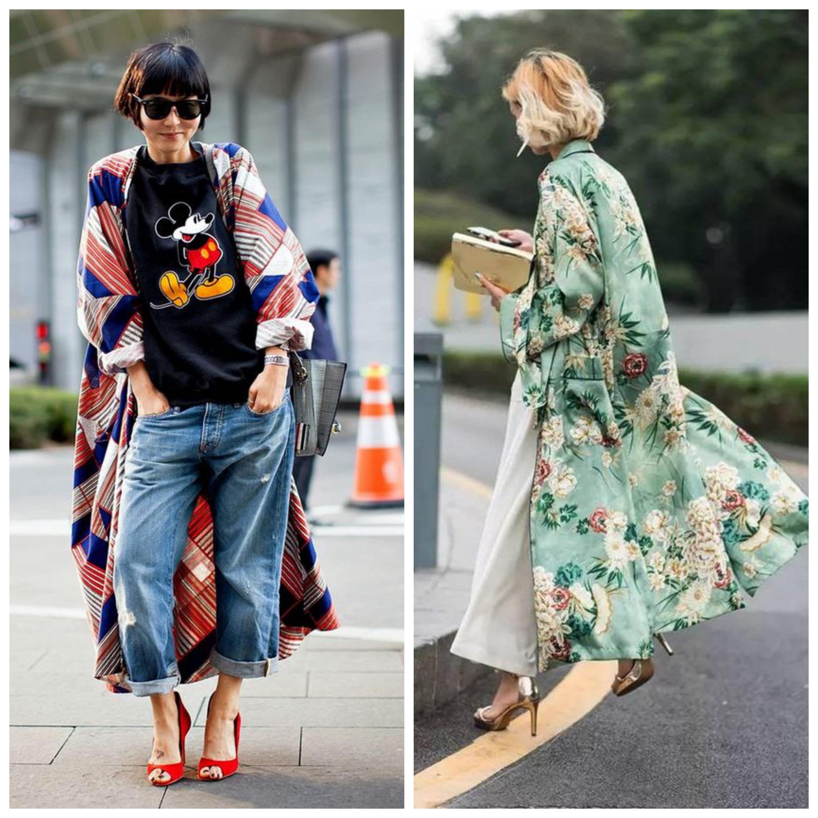 Летнее женское пальто-кимоно