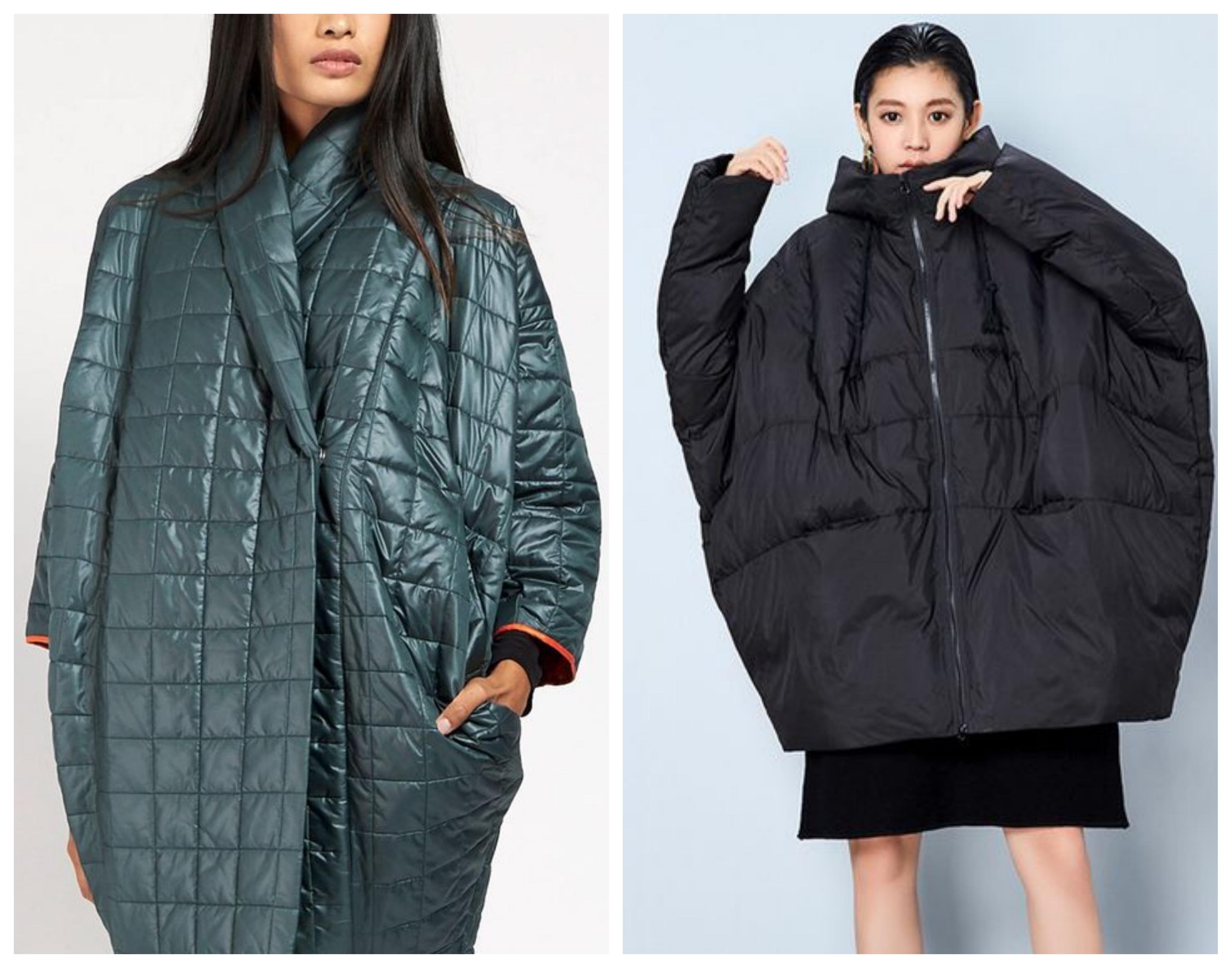 Синтепоновое пальто кокон