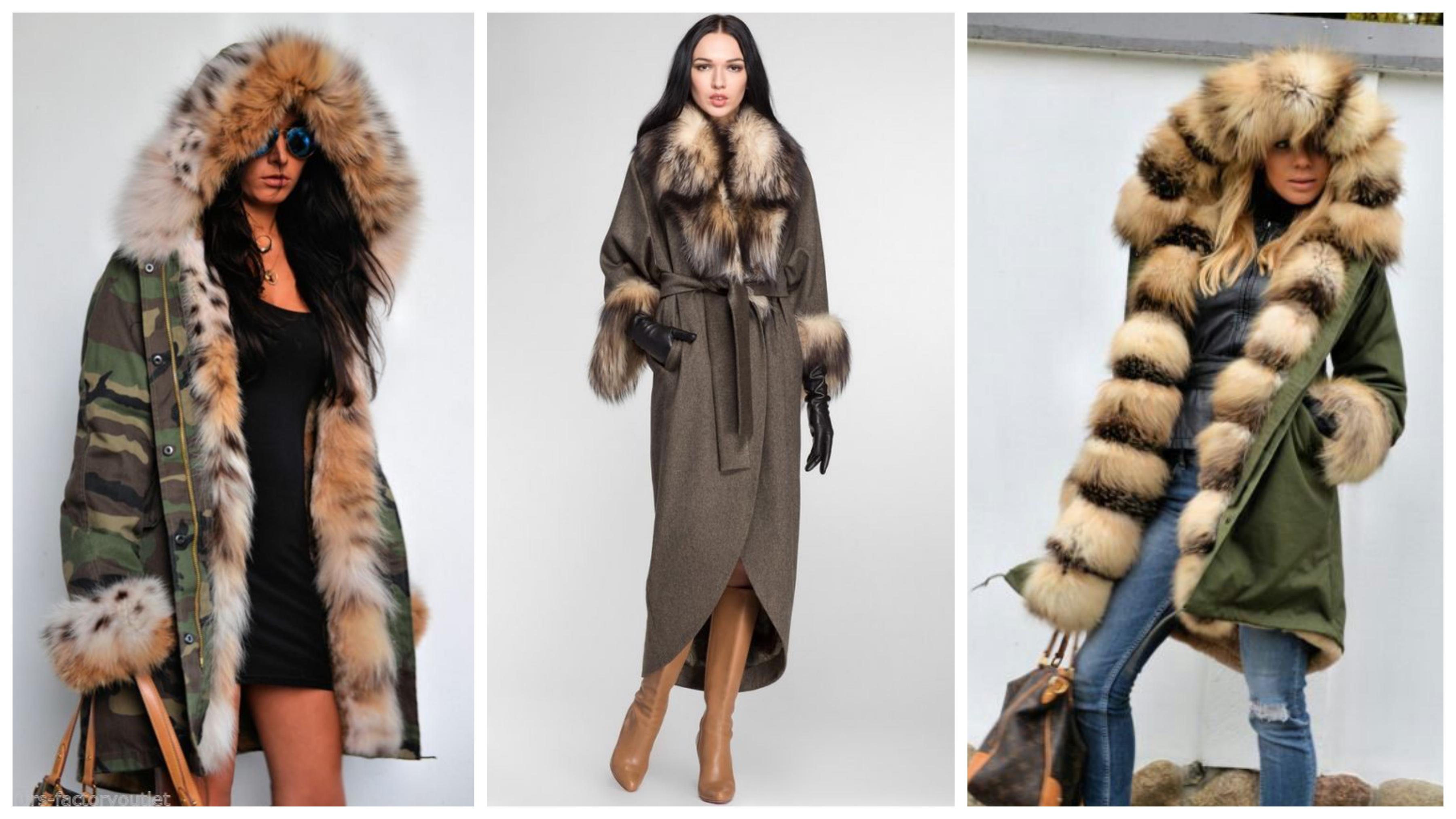 Пальто на меховой подстежке из лисы