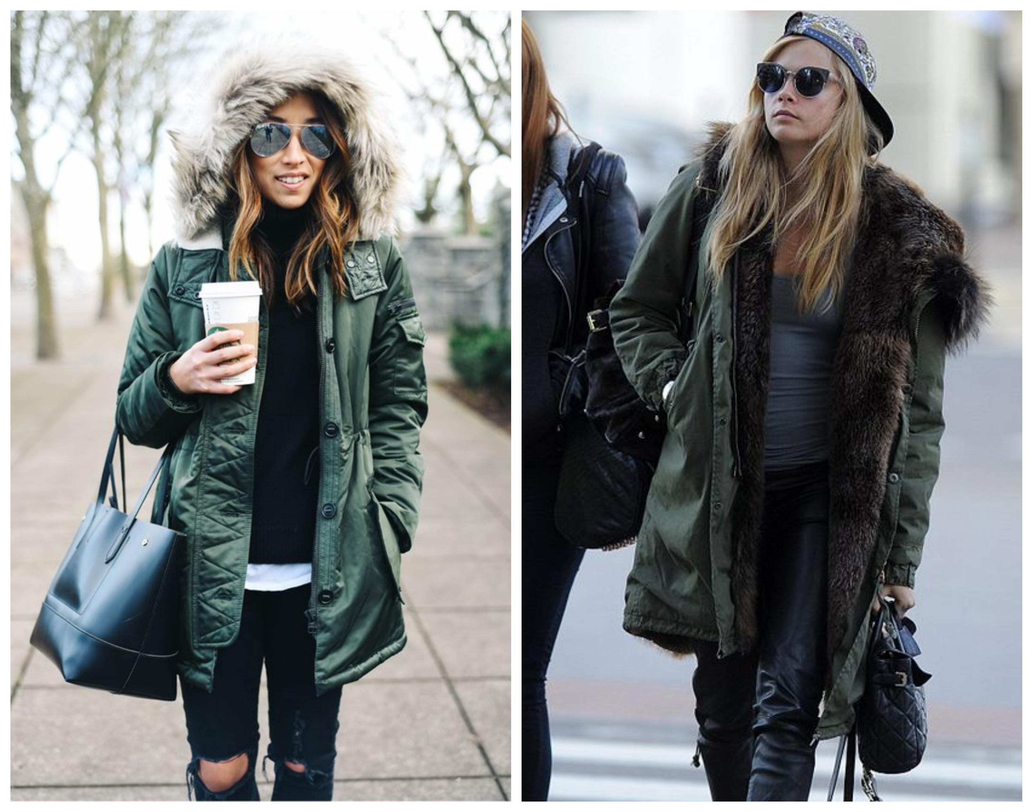 пальто на меховой подстежке - стильный лук