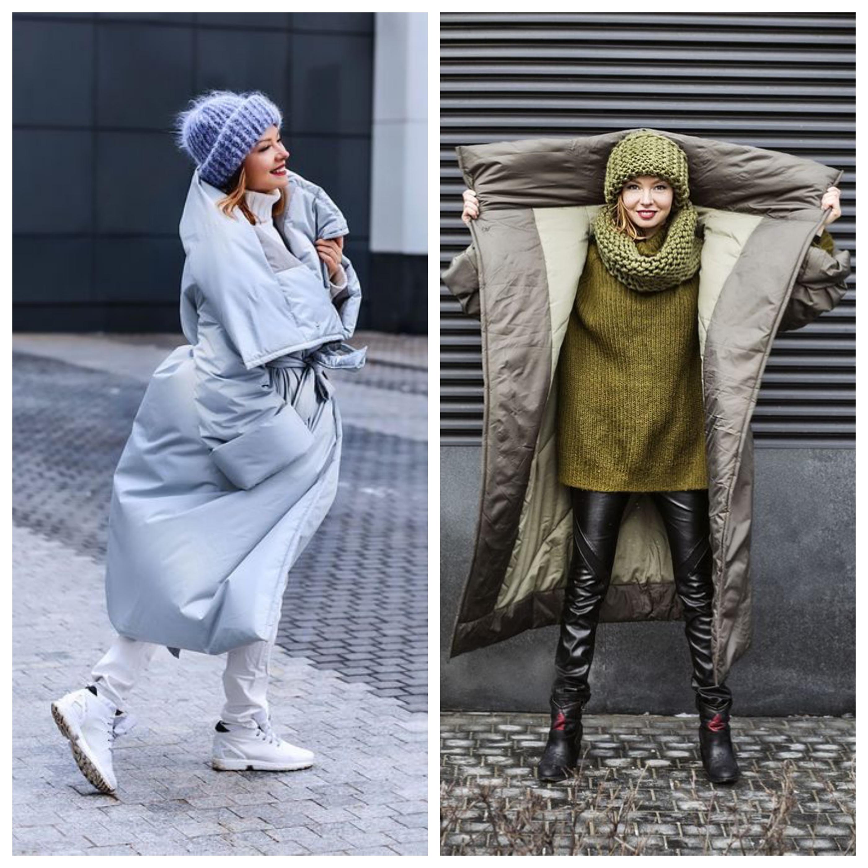 Синтепоновое пальто с чем носить