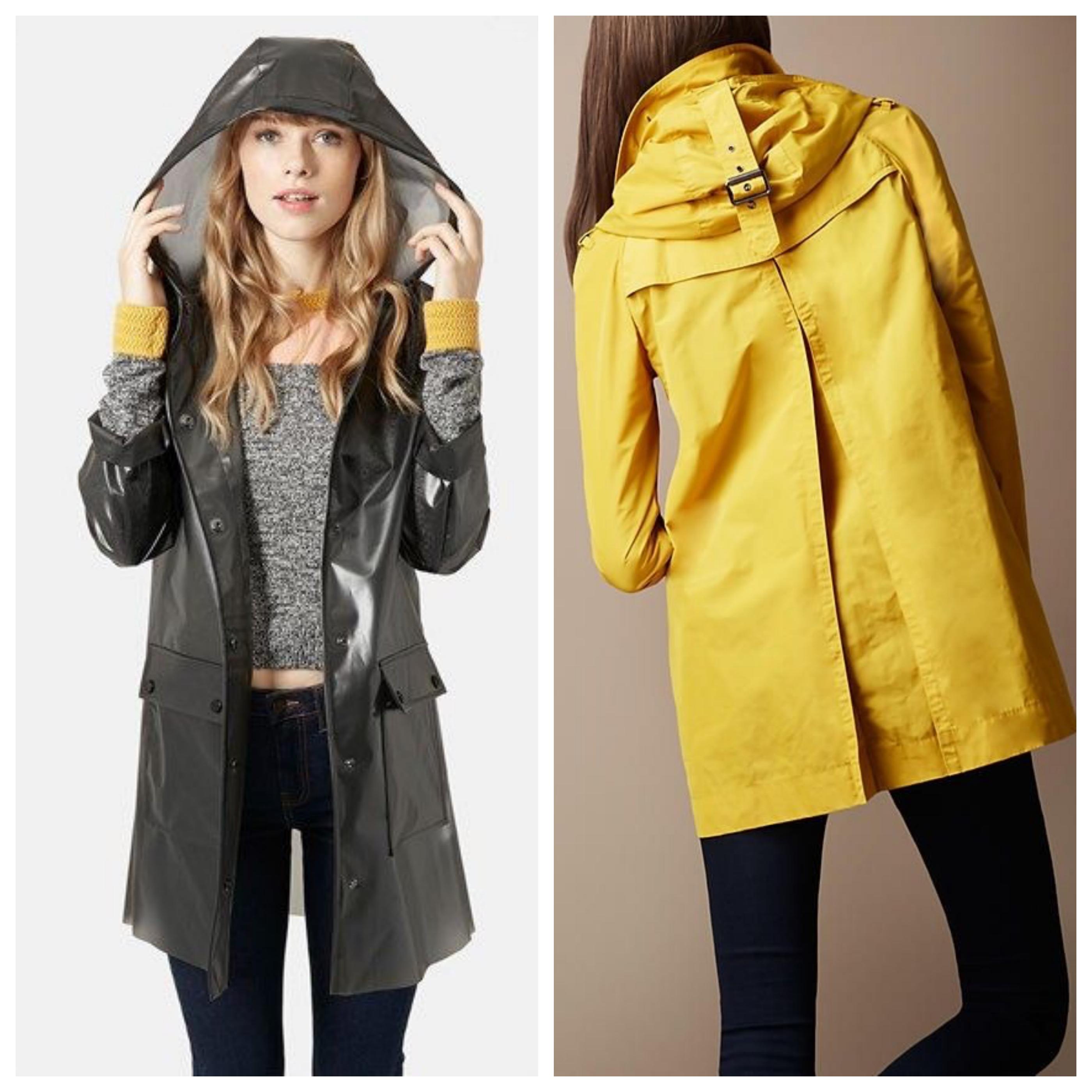 Пальто с капюшоном из плащевки