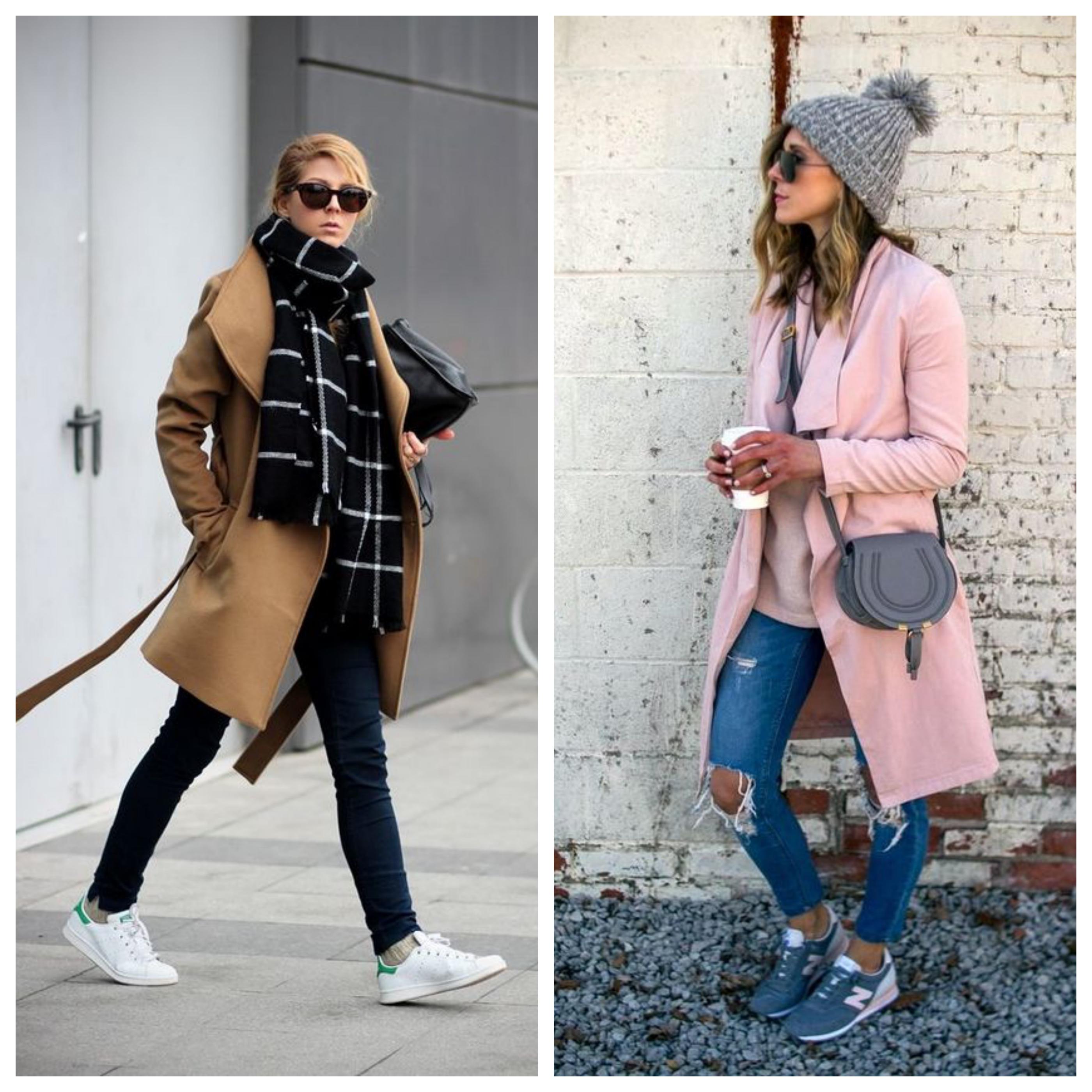 Аксессуары для пальто с кроссовками