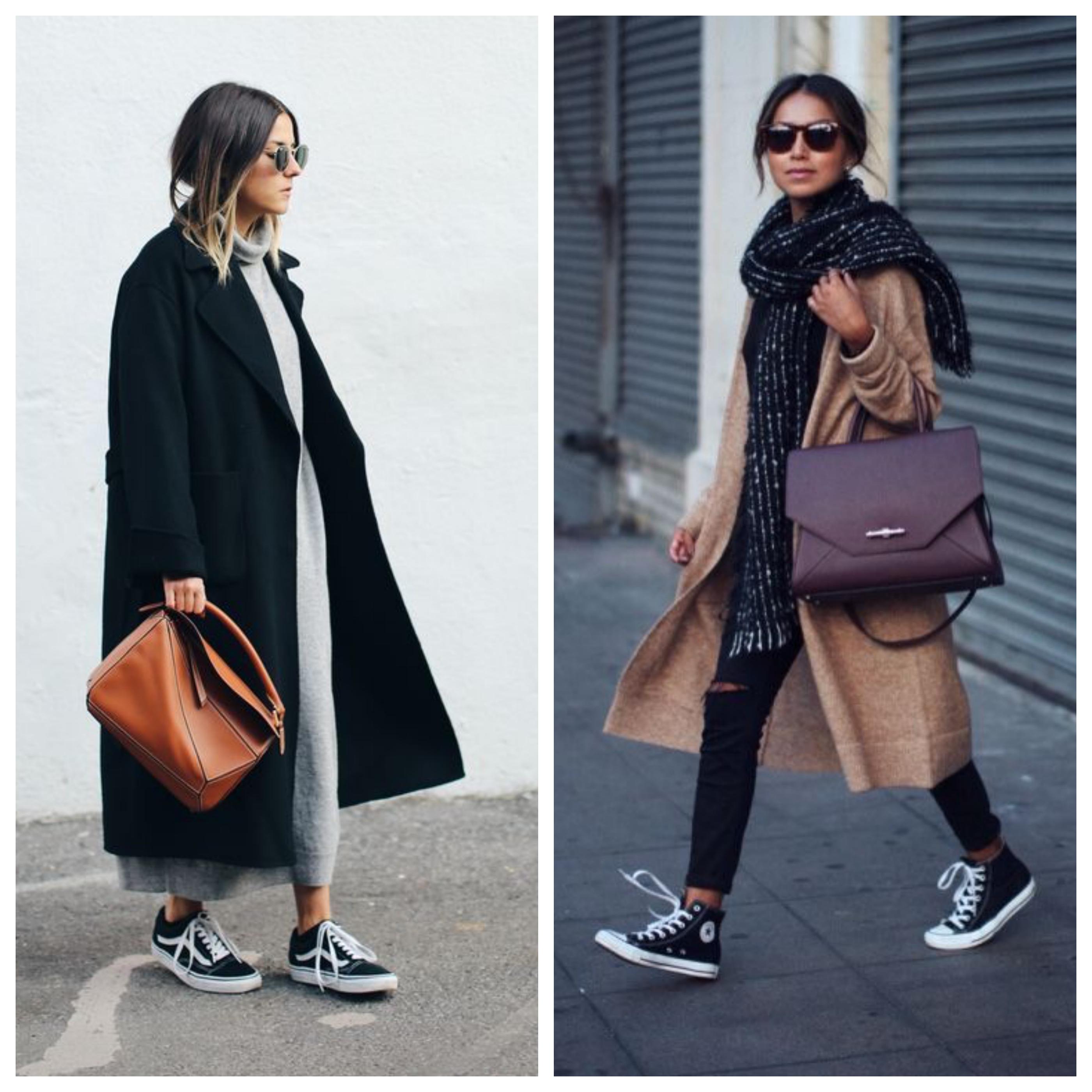 Сумка под пальто с кроссовками