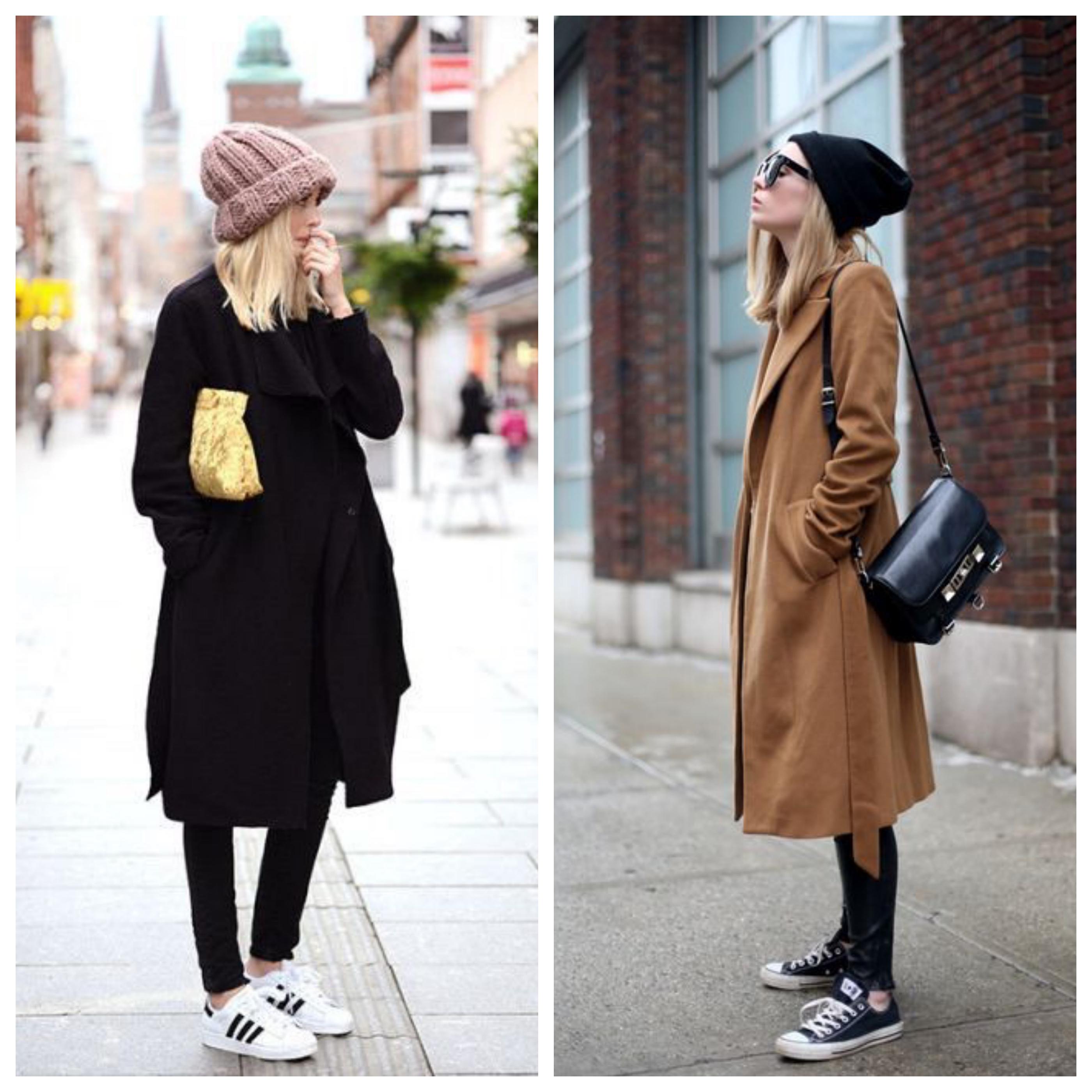Шапка для пальто с кроссовками
