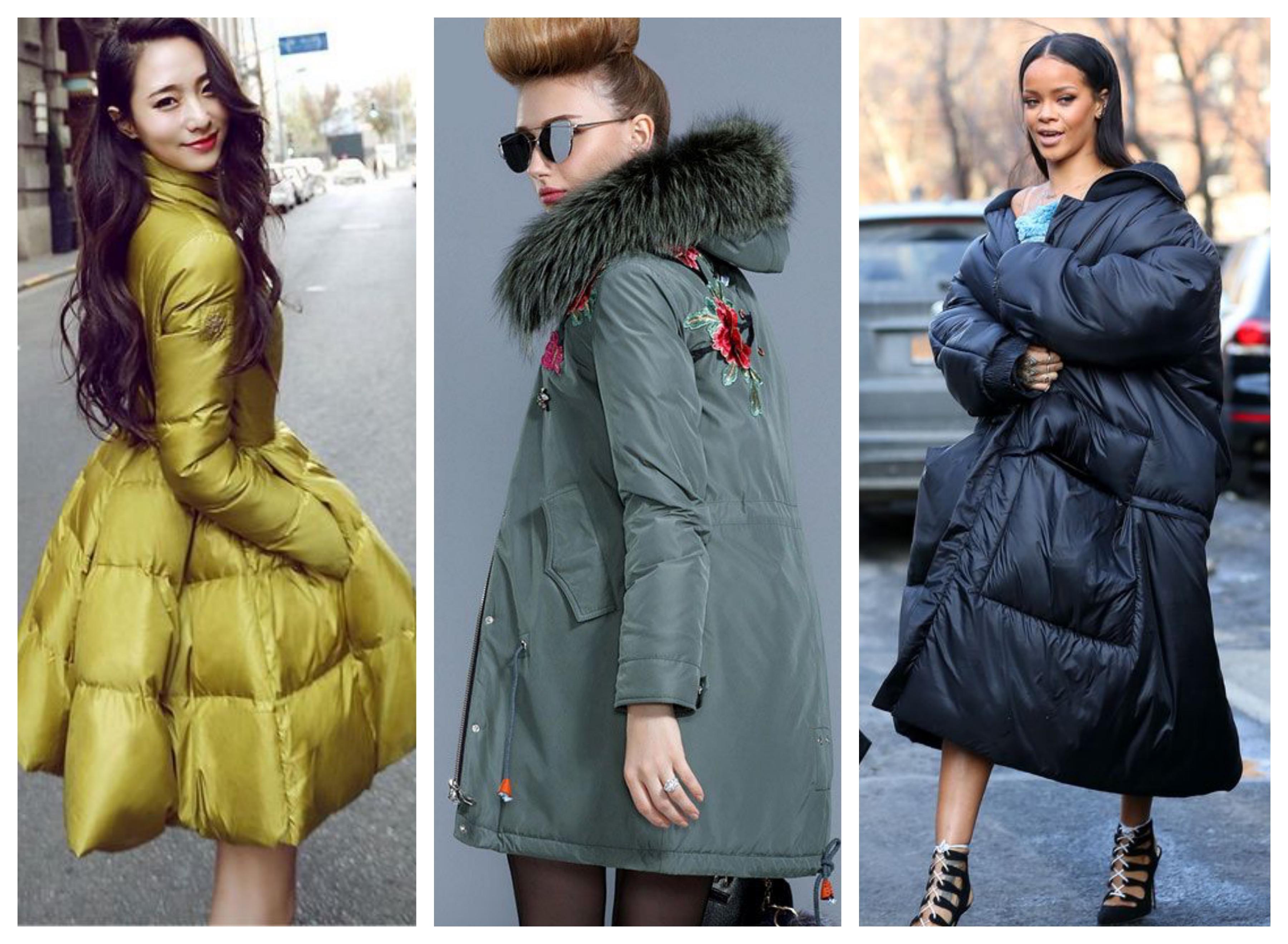 С чем носить синтепоновое пальто