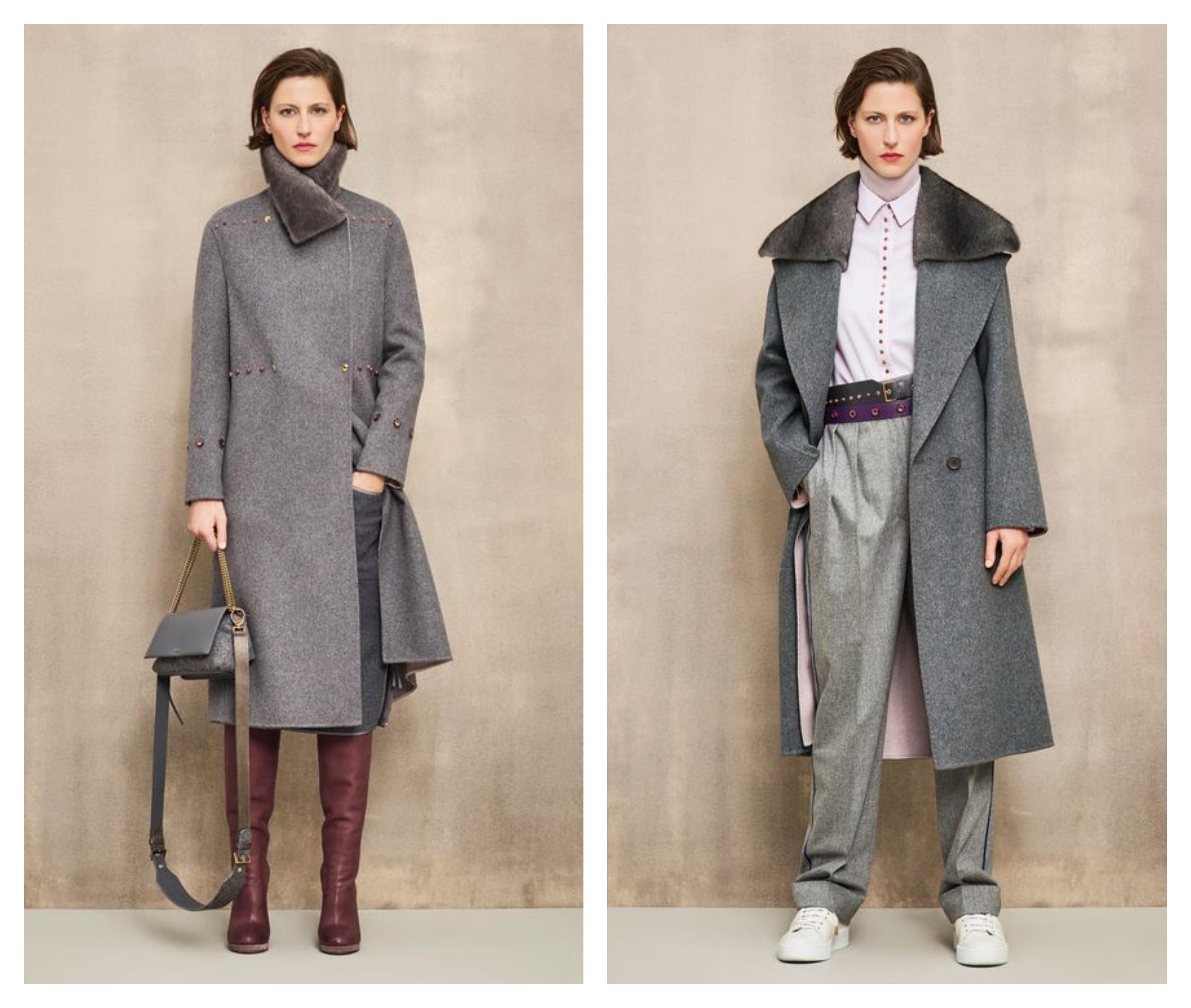 Серое женское пальто - модные тенденции 2019