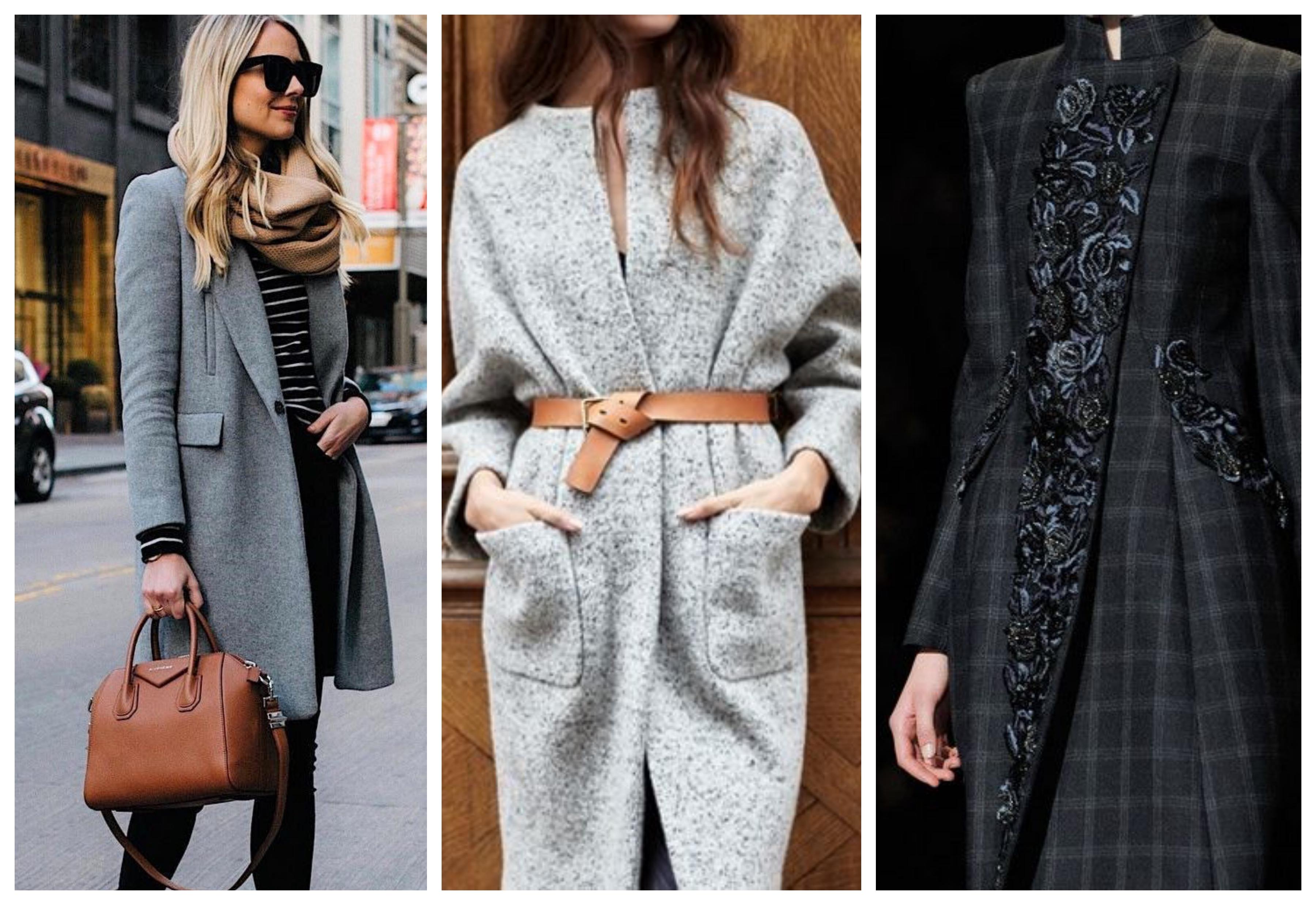 Аксессуары для серого пальто