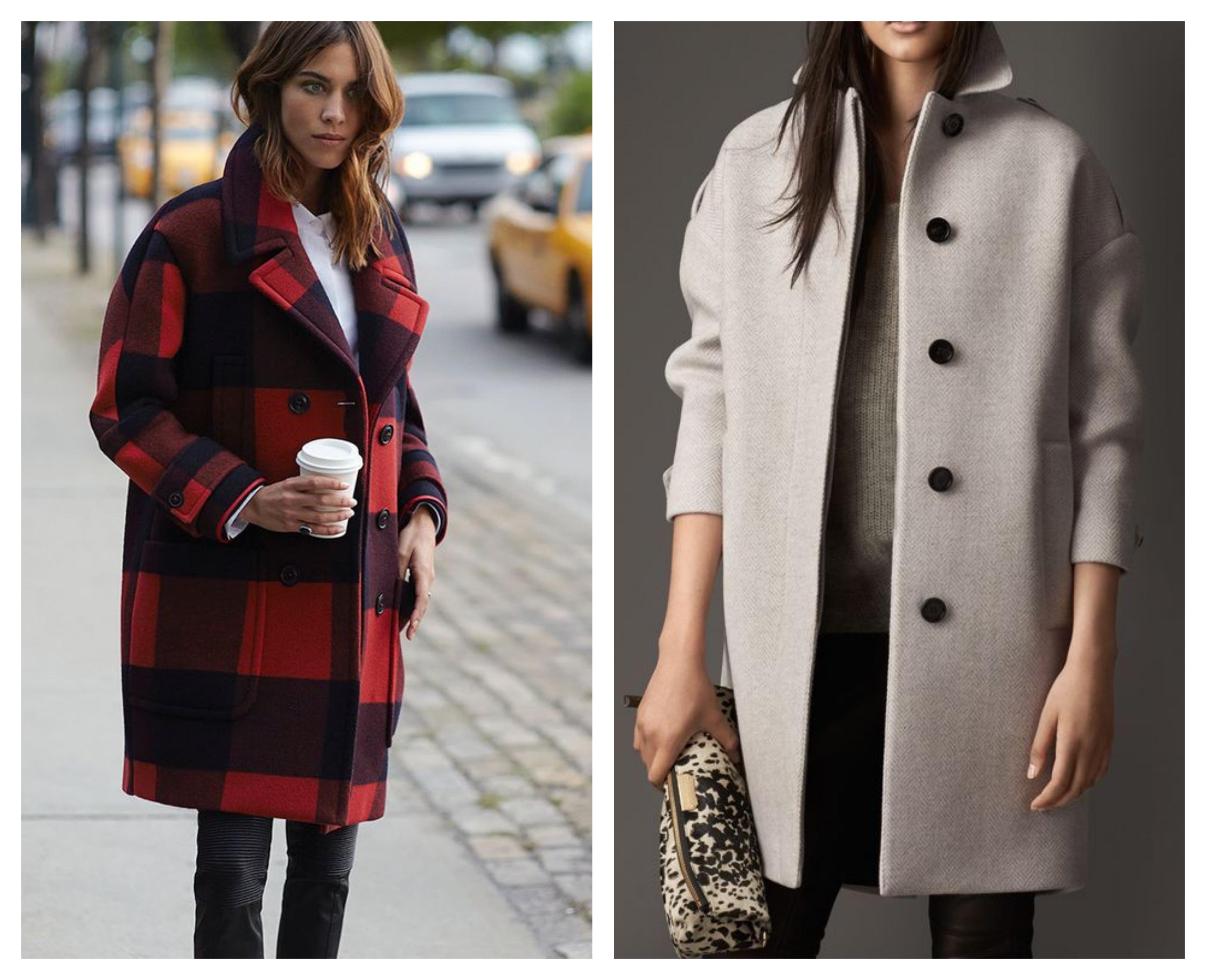 Стильный лук - шерстяное пальто