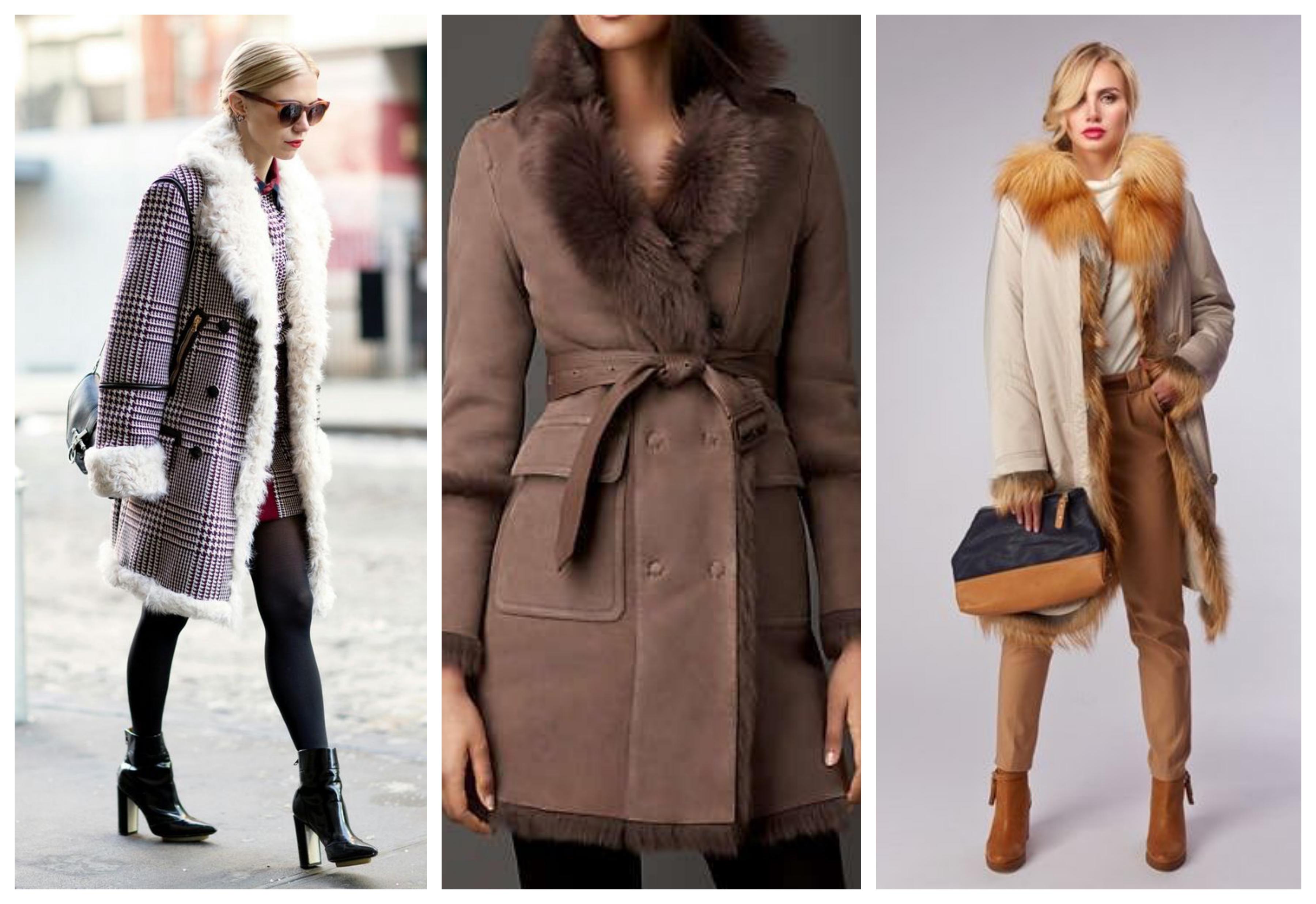 Зимнее женское пальто с искусственным мехом