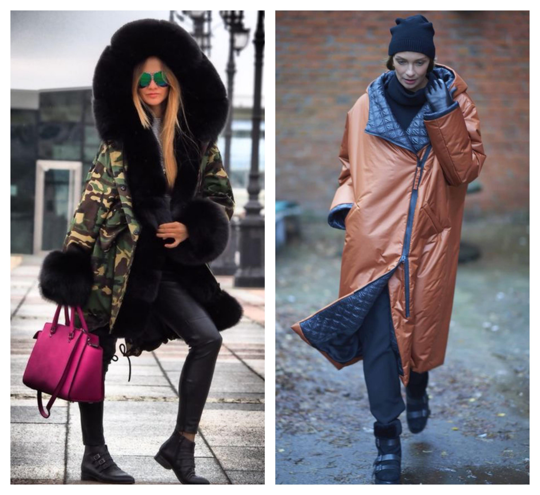 Стильное пальто с капюшоном