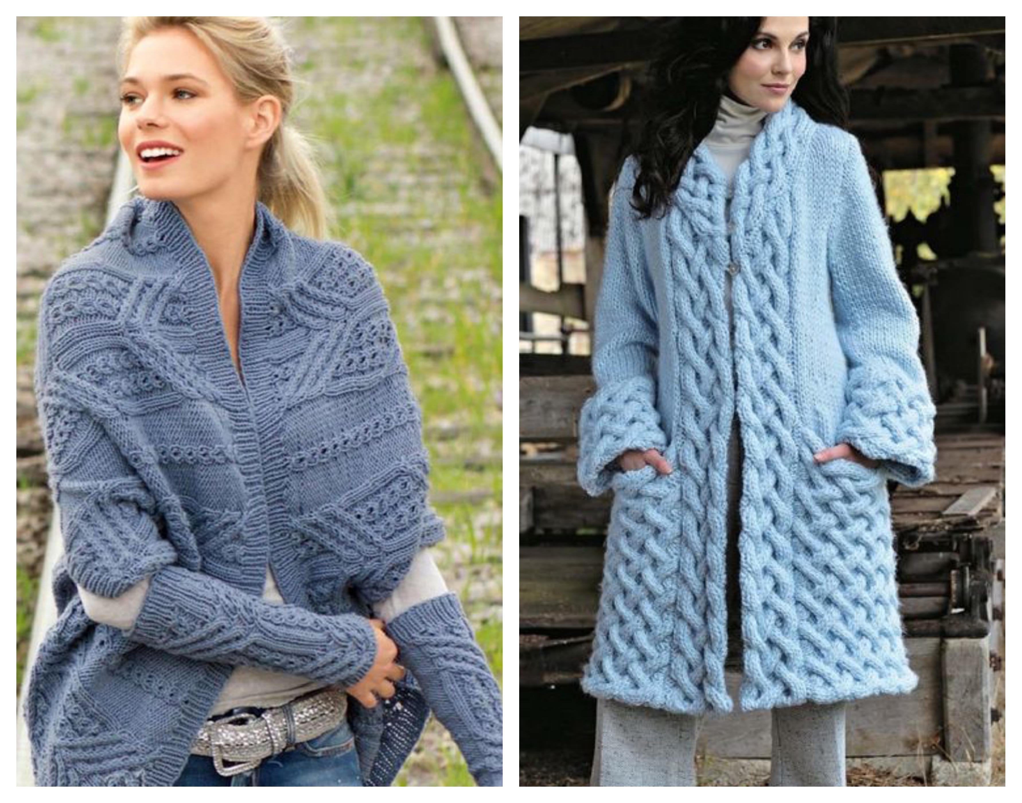 Вязаное пальто - араны