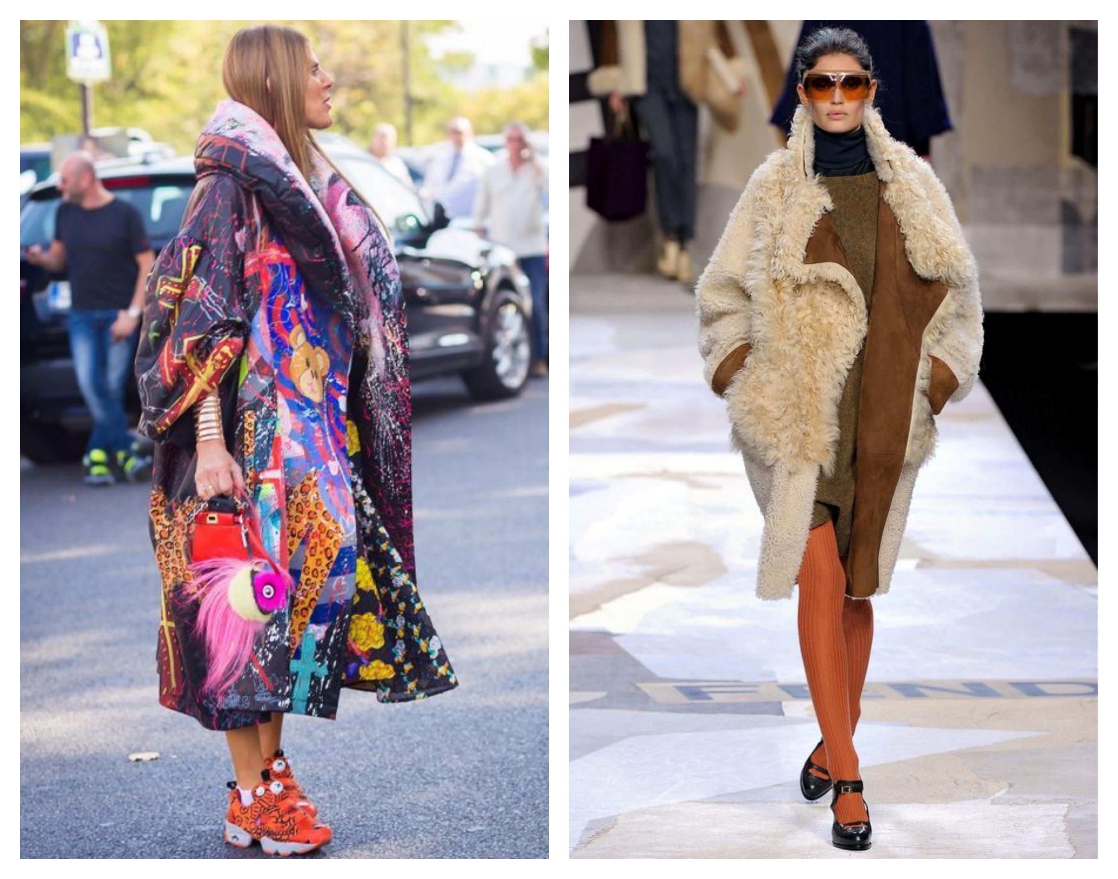 Модный лук - зимнее женское пальто
